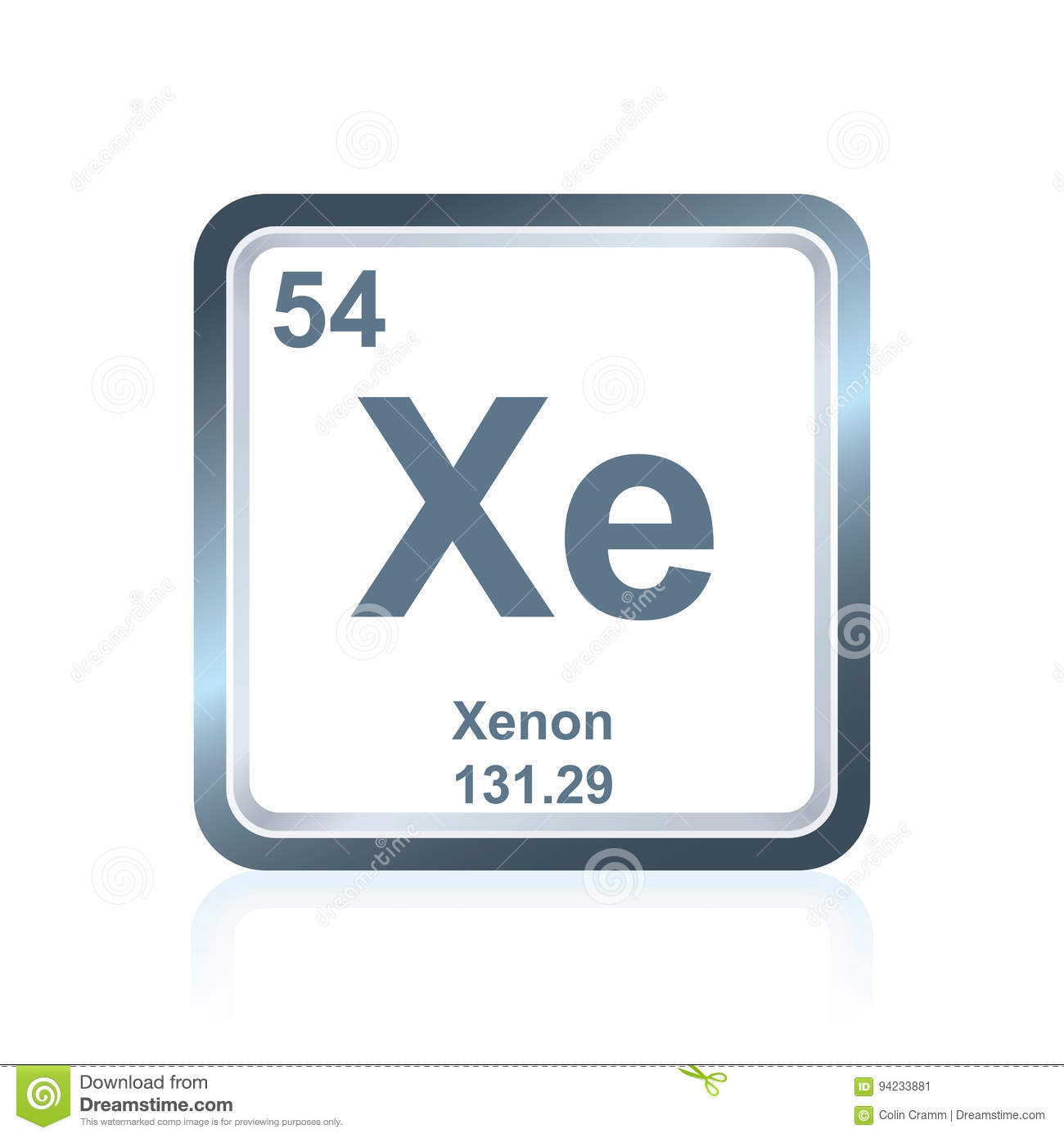 Xenon periodic table facts choice image periodic table images xenon periodic table aviongoldcorp chemical element xenon from the periodic table stock ilration gamestrikefo choice image gamestrikefo Gallery
