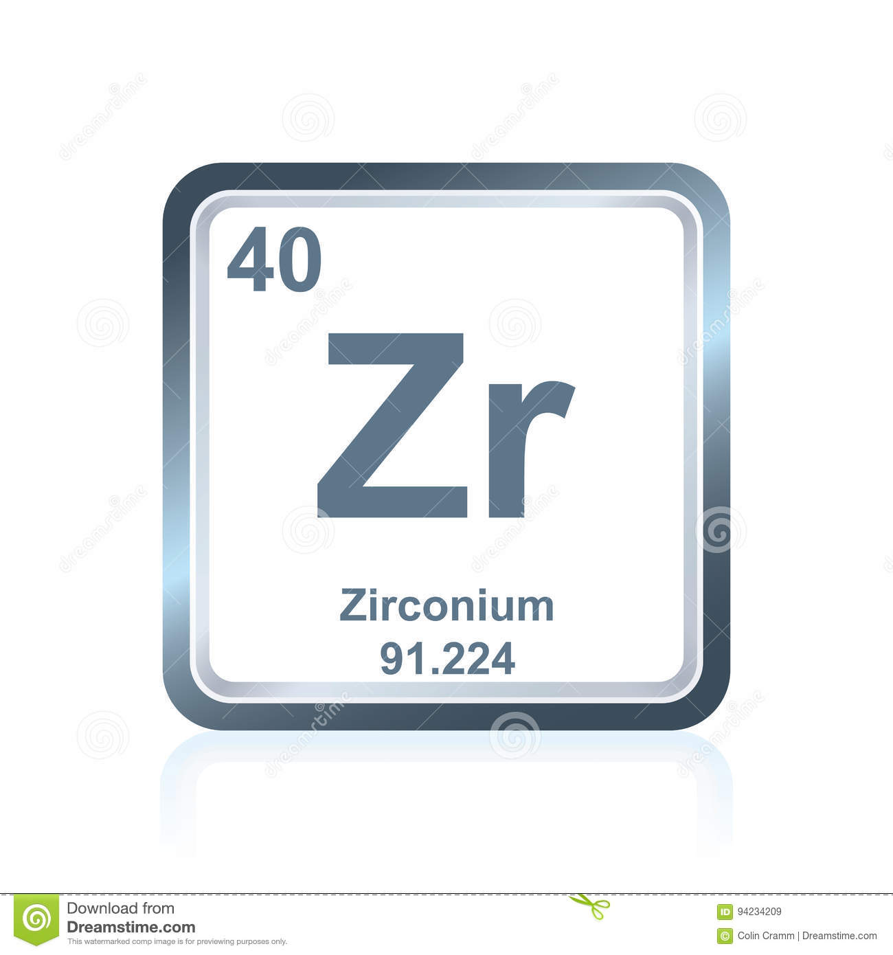 Periodic table element zirconium icon stock illustration chemical element zirconium from the periodic table royalty free stock images urtaz Choice Image