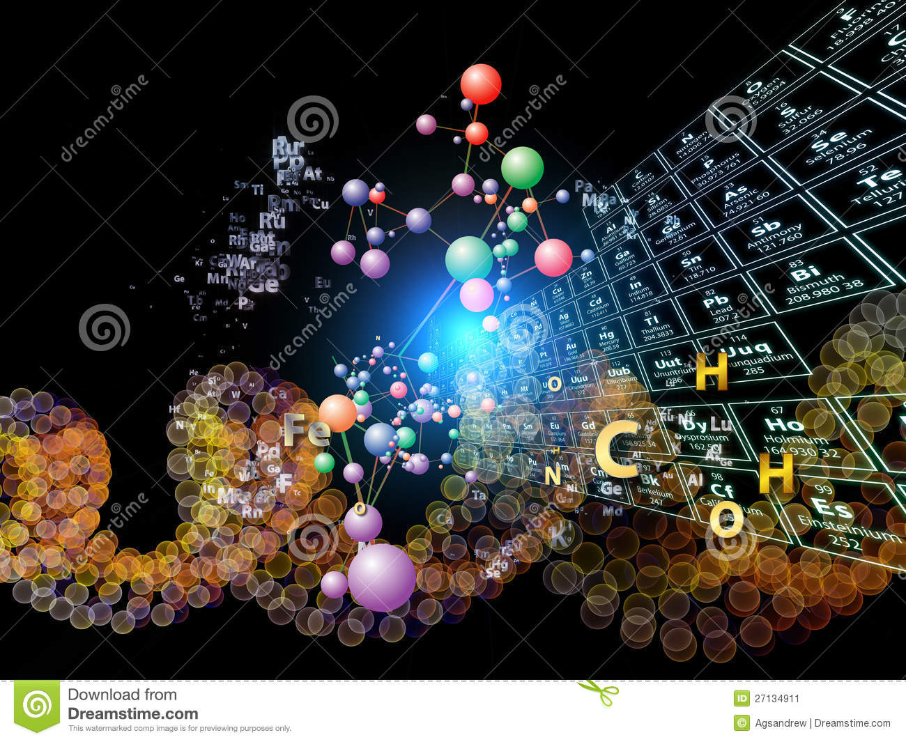 Stock Image Chemical Elements Abstraction Image27134911 on Oxygen Periodic Table