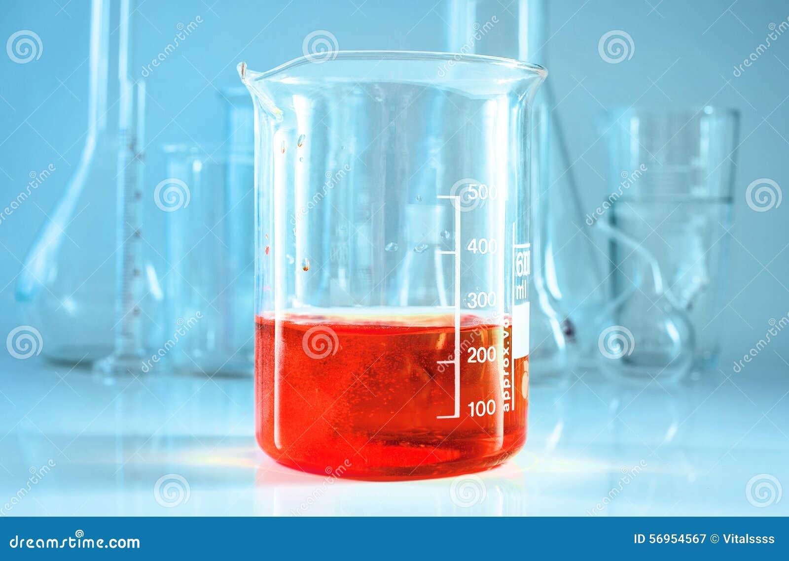 Chemical glassware. Chem laboratory.