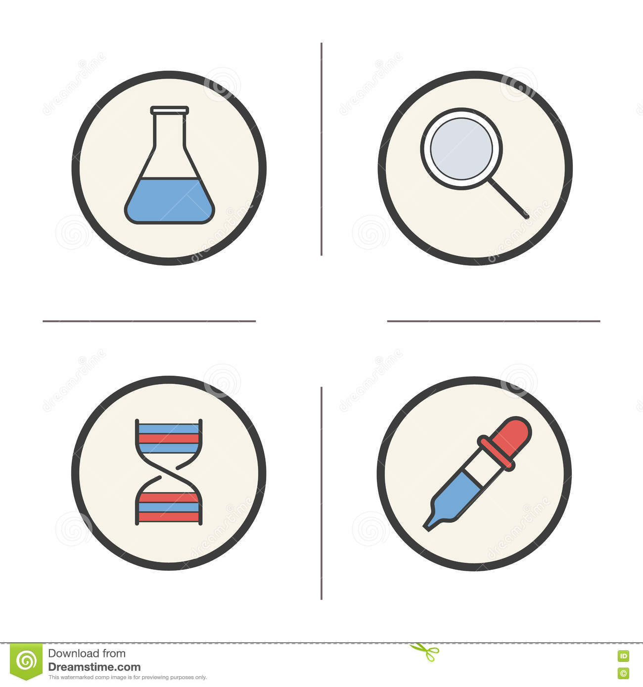 download chemical lab tools color icons set stock vector illustration of icon chemistry
