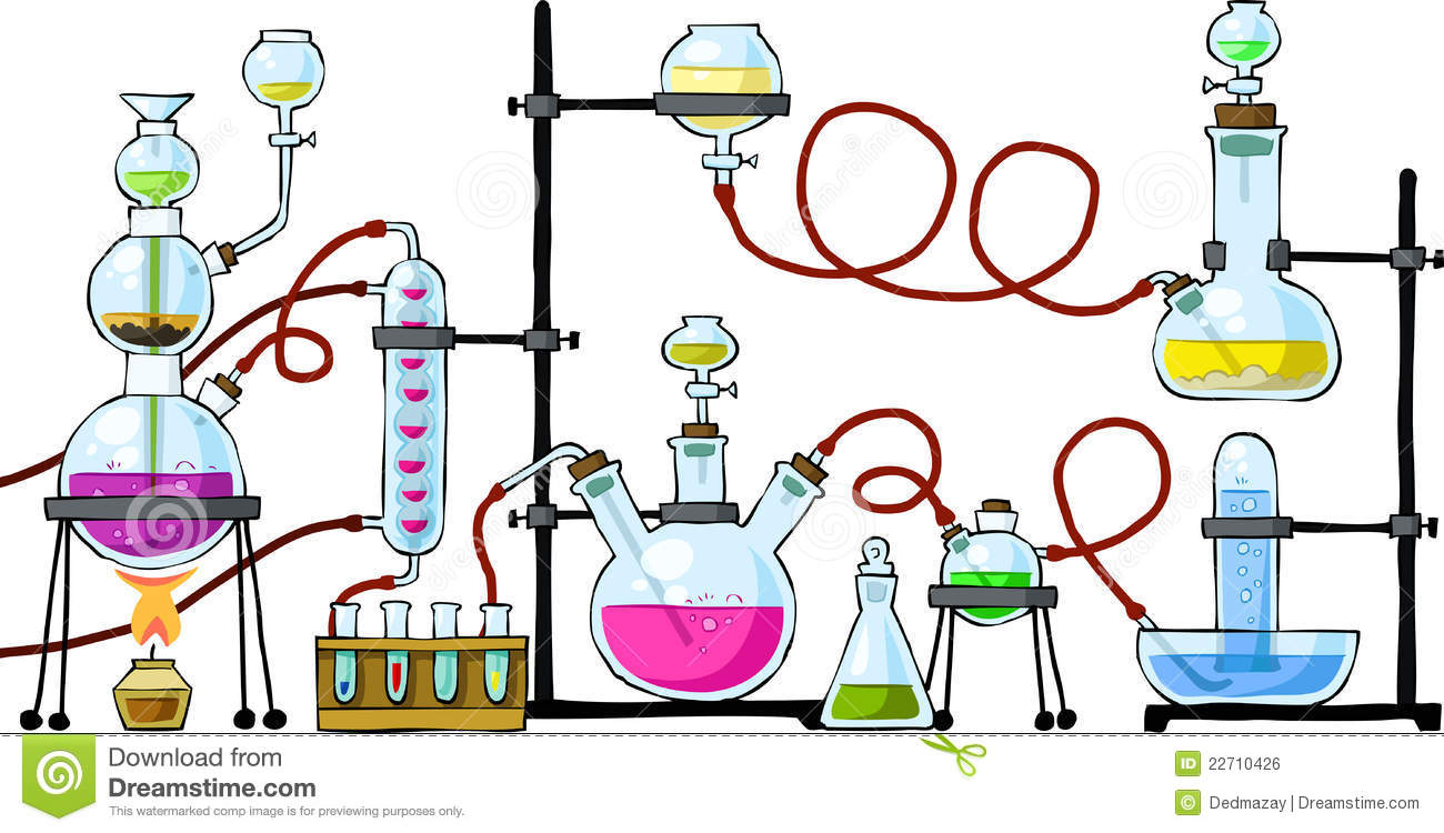 Chemical laboratory stock vector. Illustration of science ...