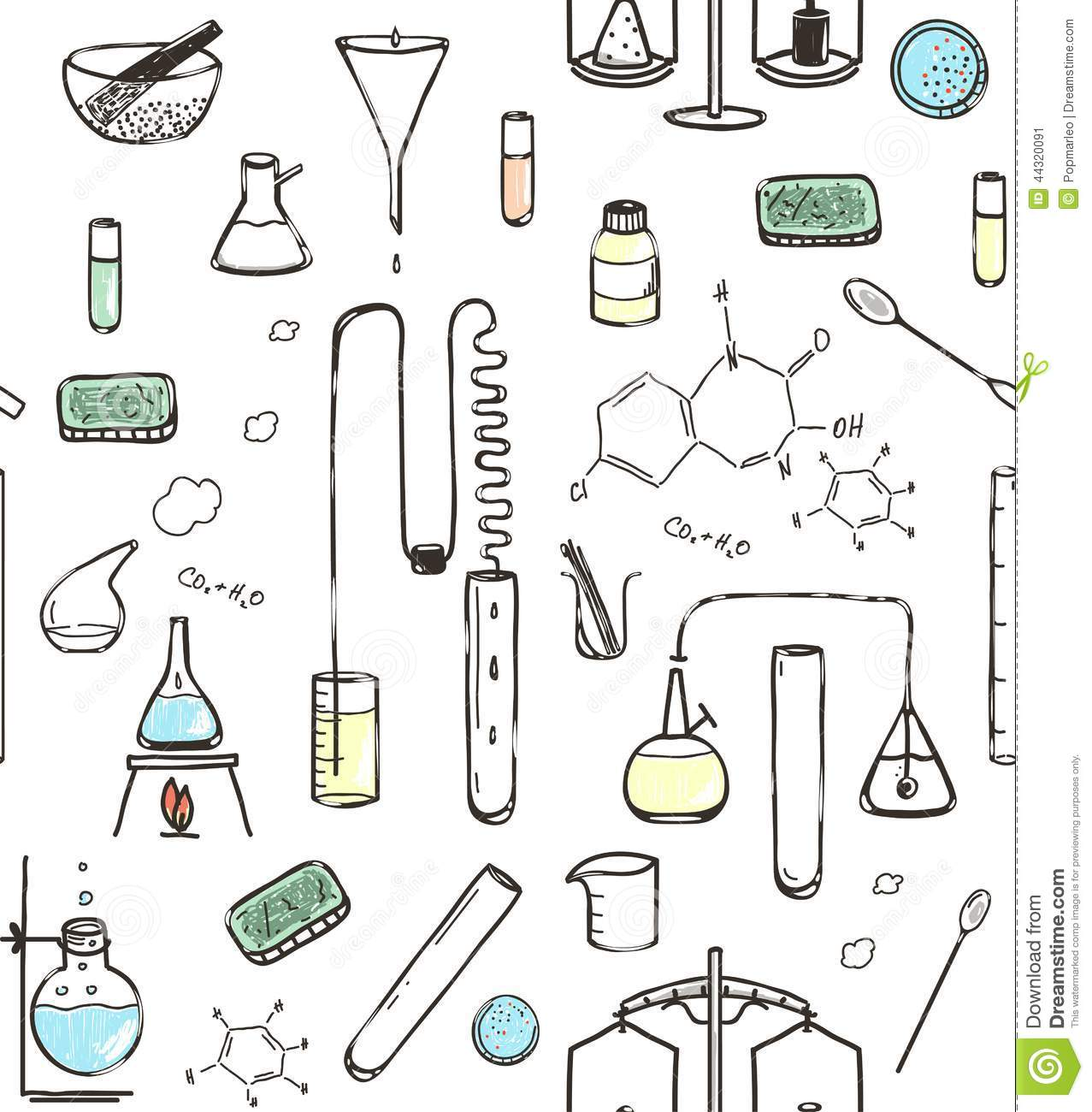 download chemical laboratory seamless pattern stock vector illustration of flask research 44320091
