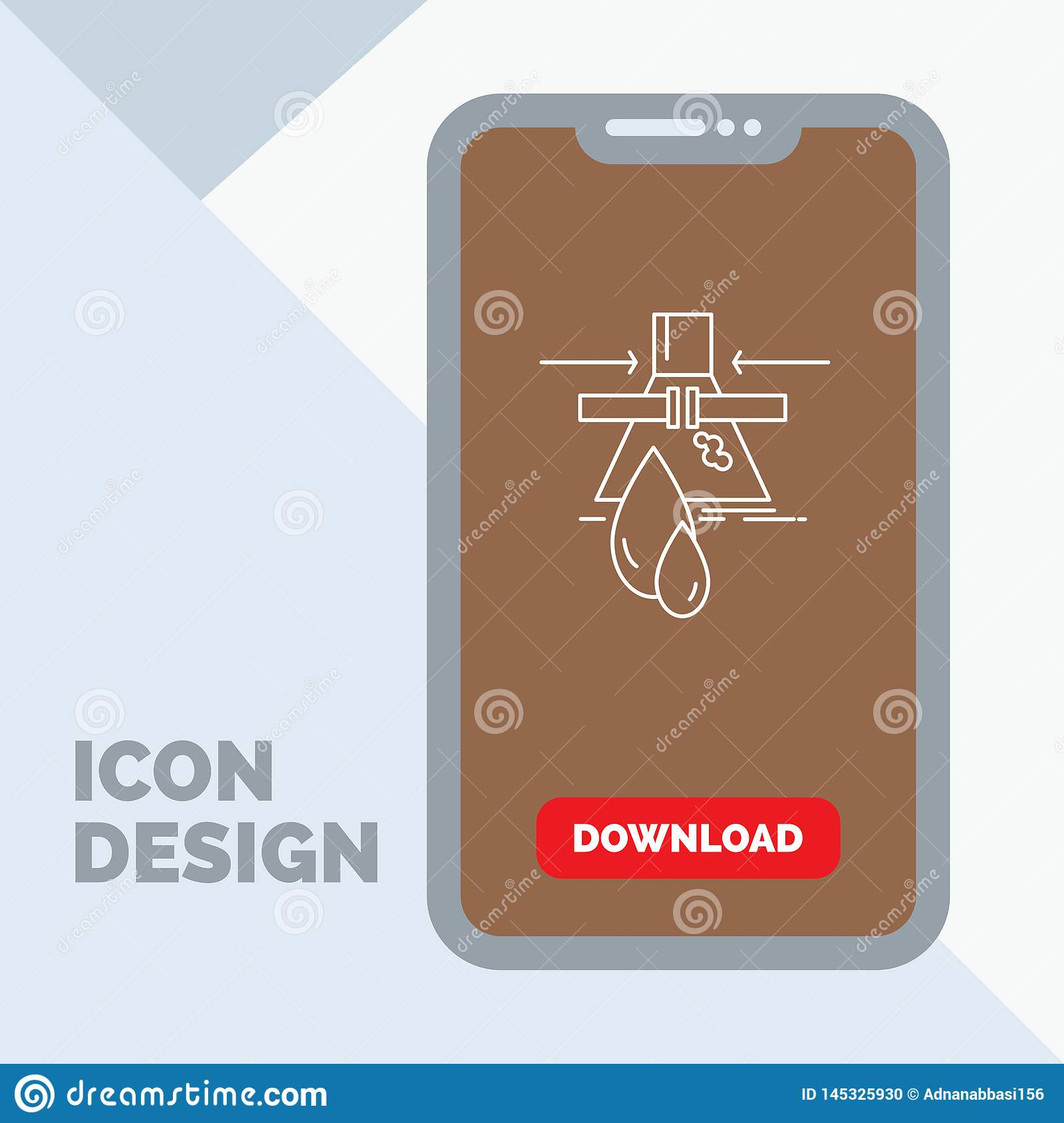 Chemical, Leak, Detection, Factory, pollution Line Icon in Mobile for Download Page