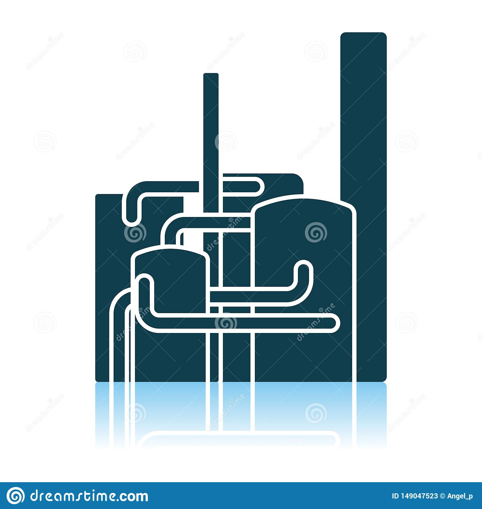 Chemical Plant Icon Stock Vector Illustration Of Background 149047523