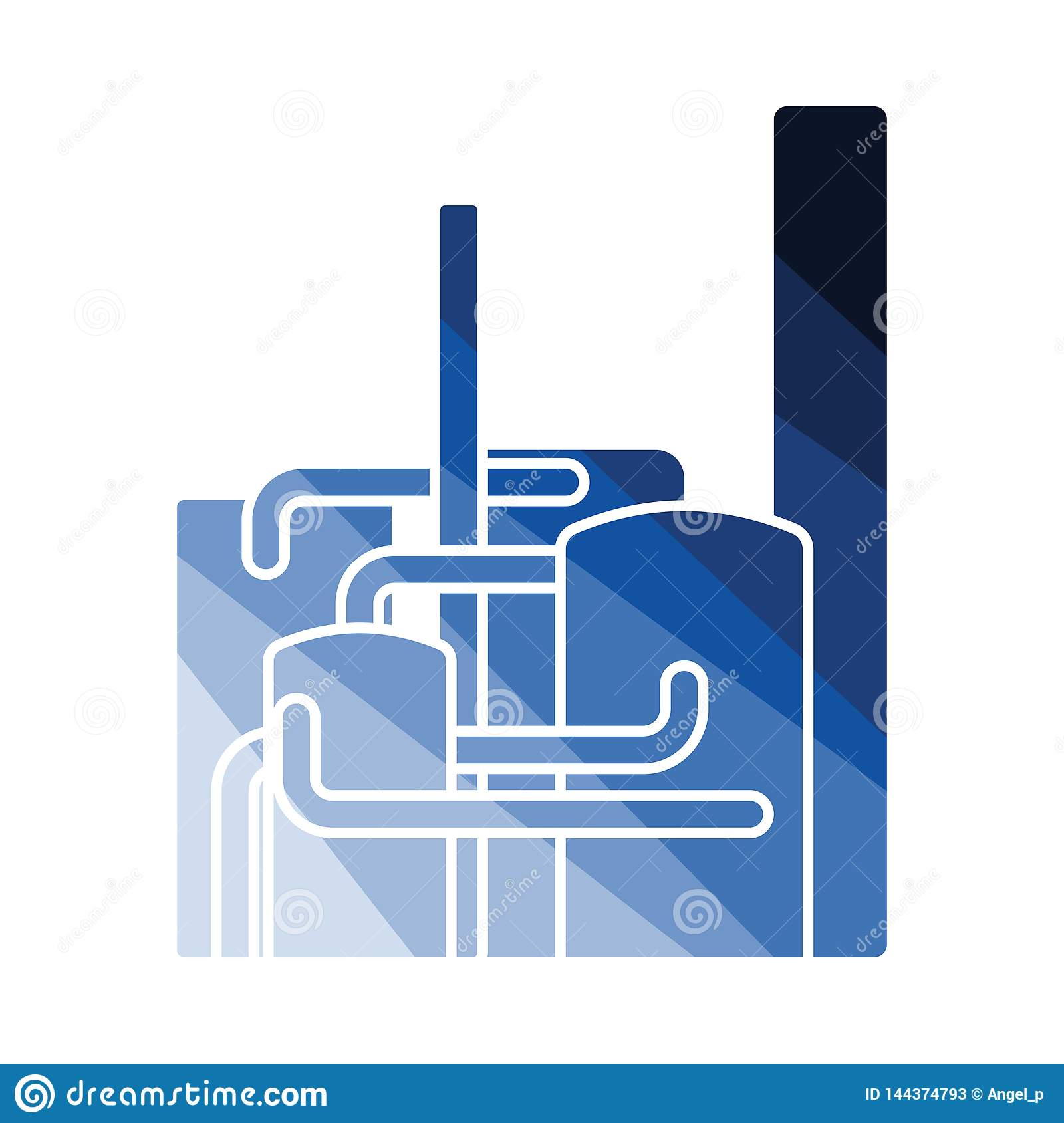 Chemical Plant Icon Stock Vector Illustration Of Crude 144374793