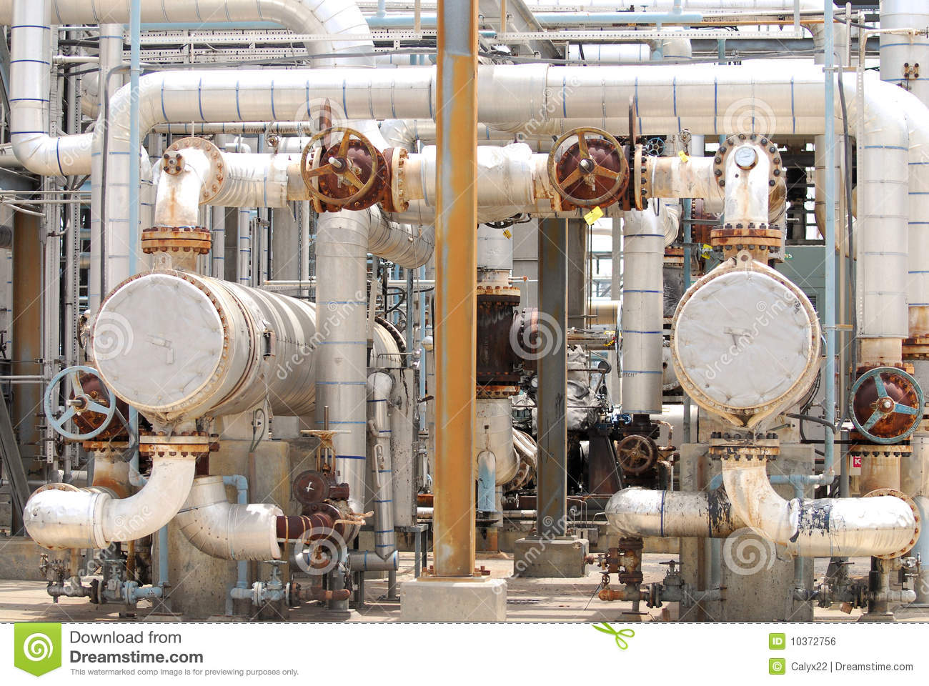 Chemical Process Piping Stock Photo Image Of Pattern
