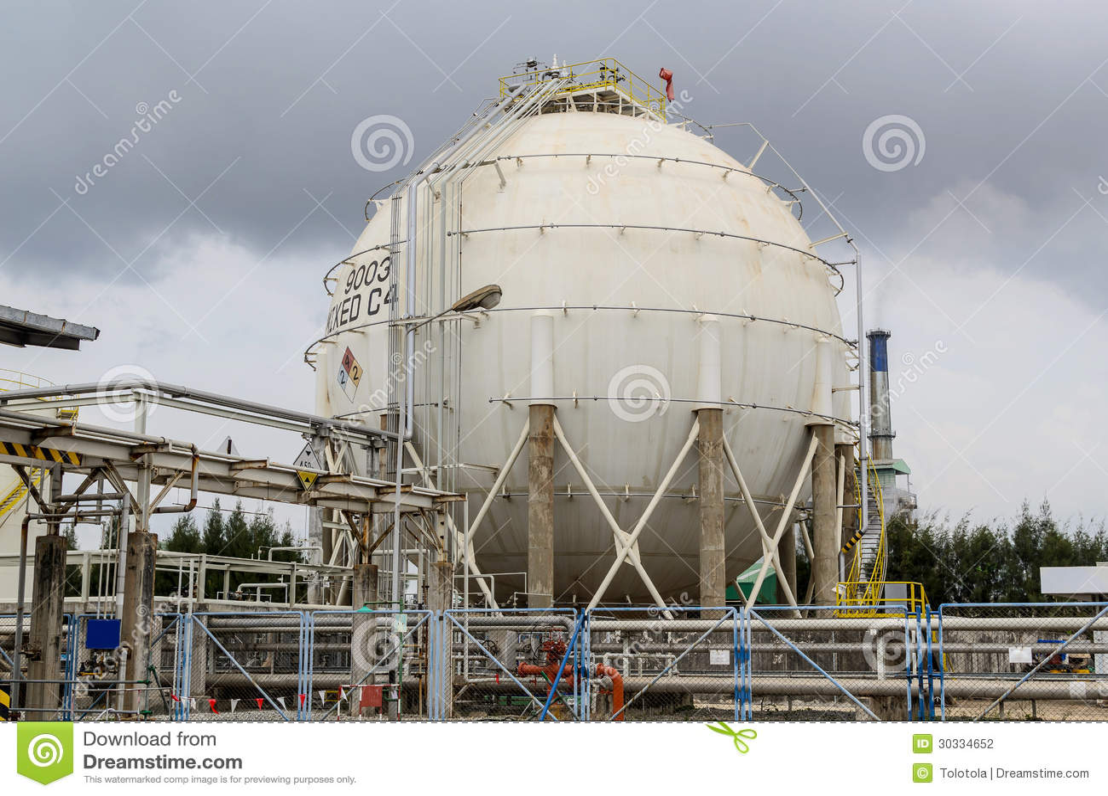 Chemical Storage Tank Stock Photography Image 30334652