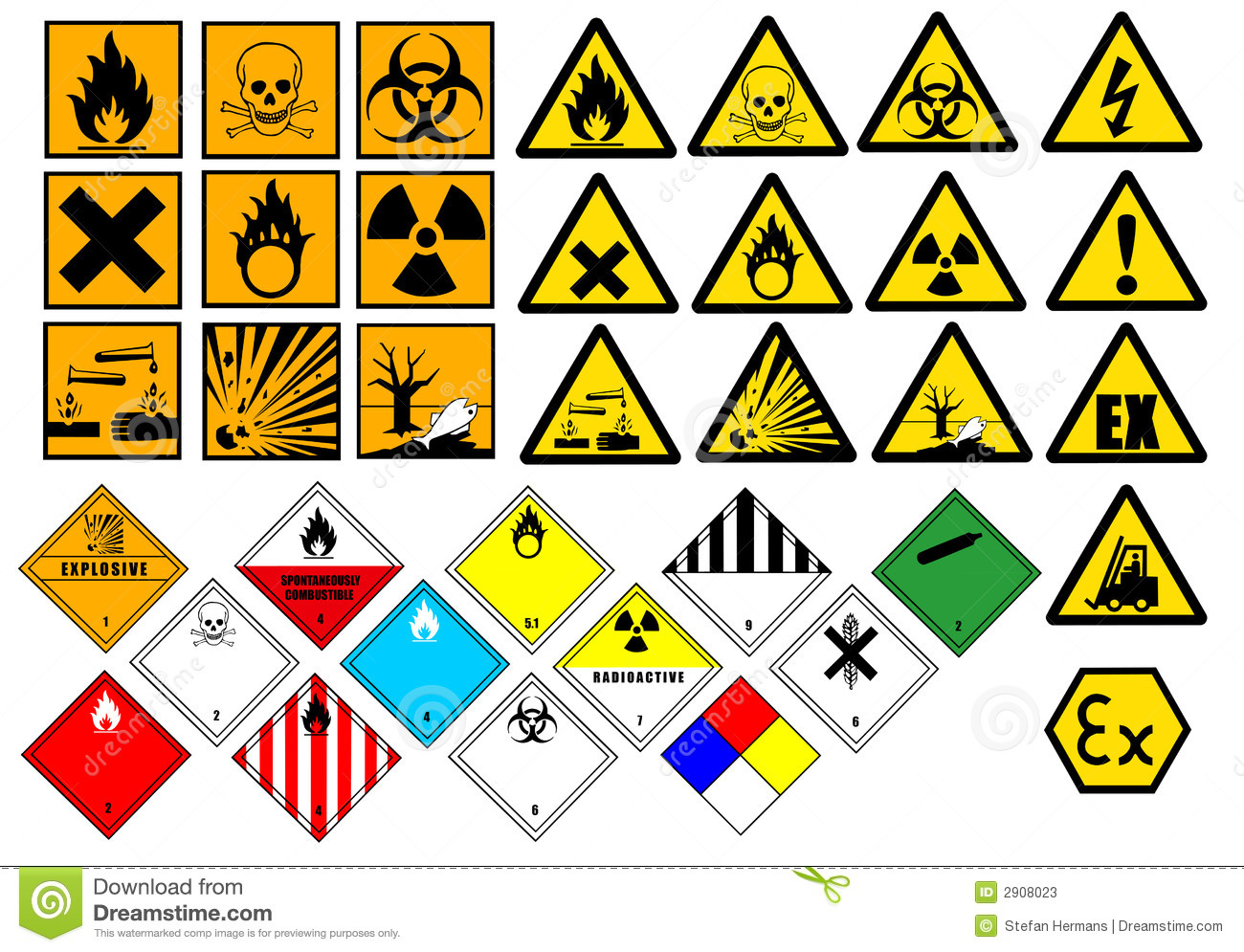 Stock Photos Chemical Symbols Image2908023 on fire safety plan symbols