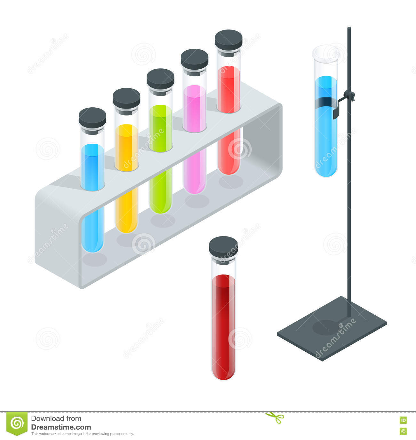 Chemical Test Tube Pictogram Icons Set. Erlenmeyer Flask ...