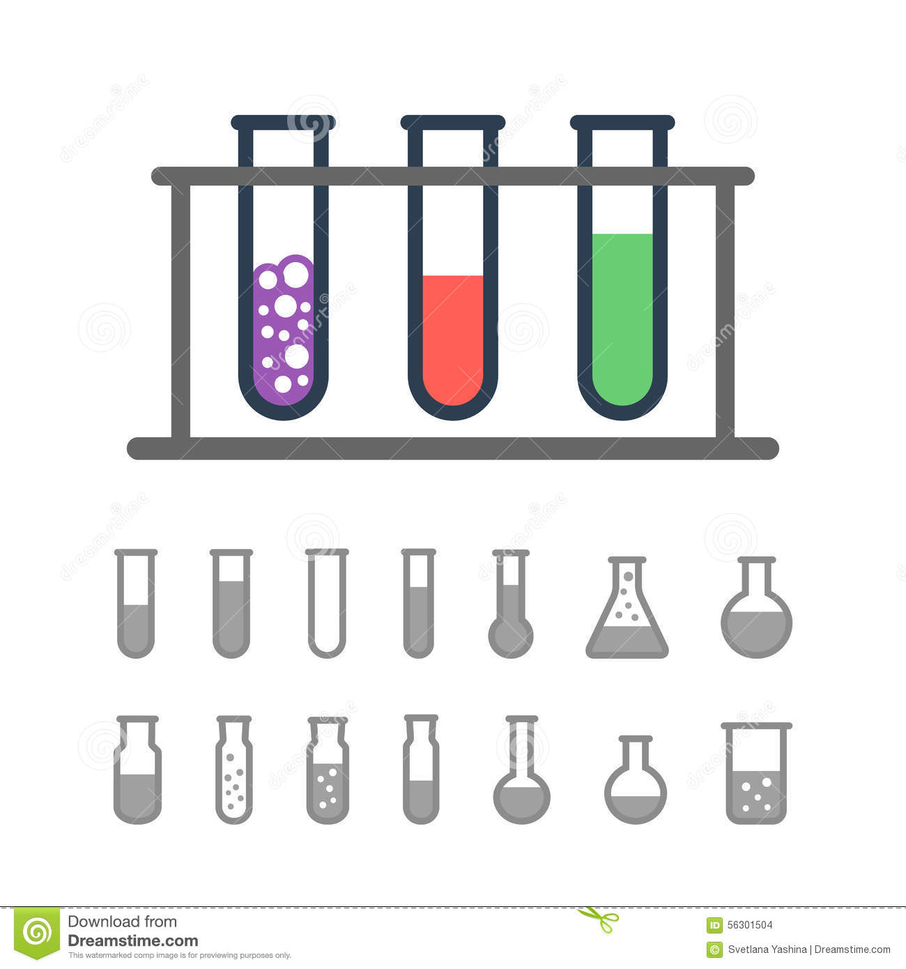 Chemical test tubes icons stock vector. Illustration of silhouette ... for Laboratory Test Tube Holder  300lyp