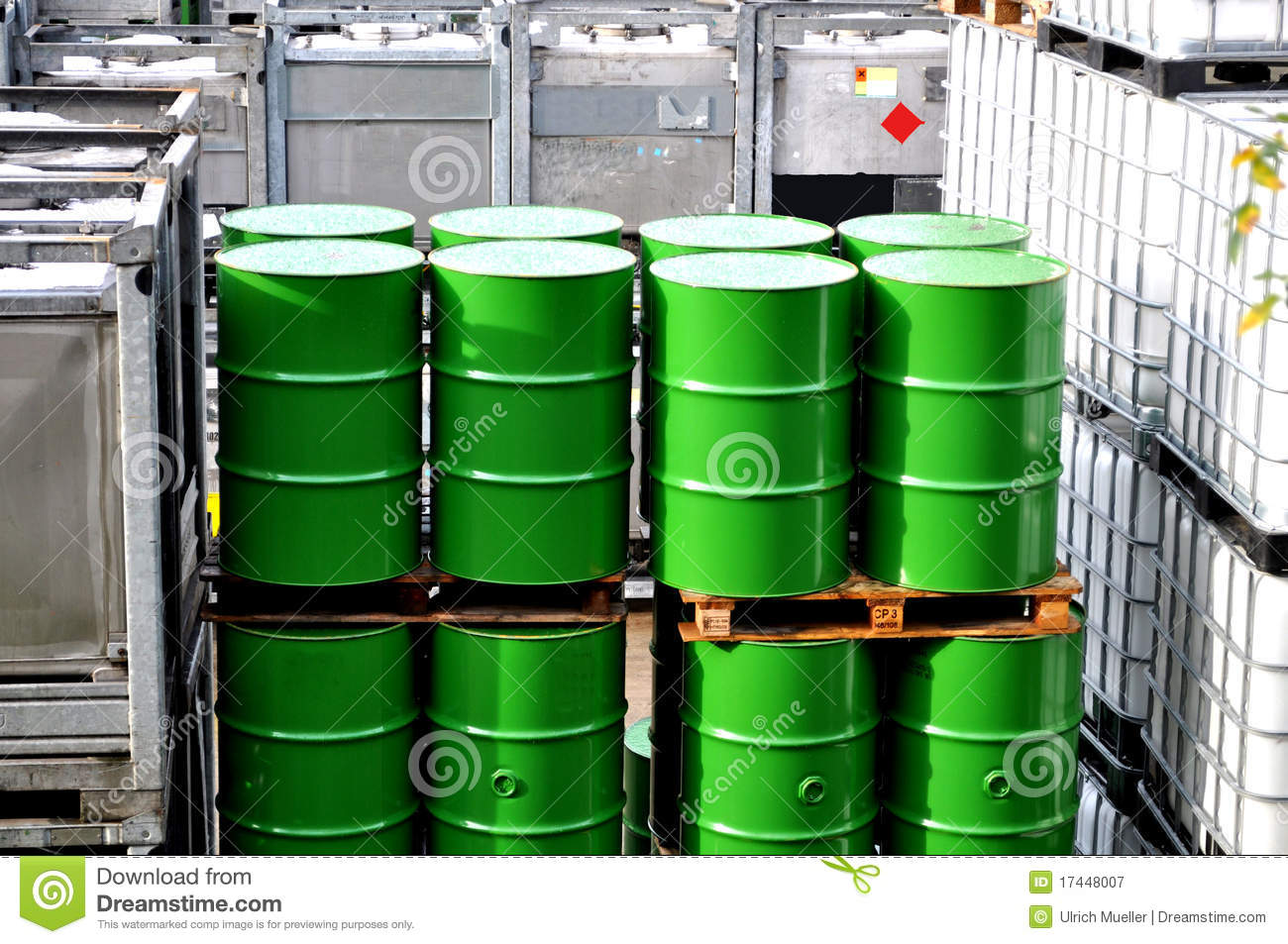 Chemical Warehouse Royalty Free Stock Photography Image