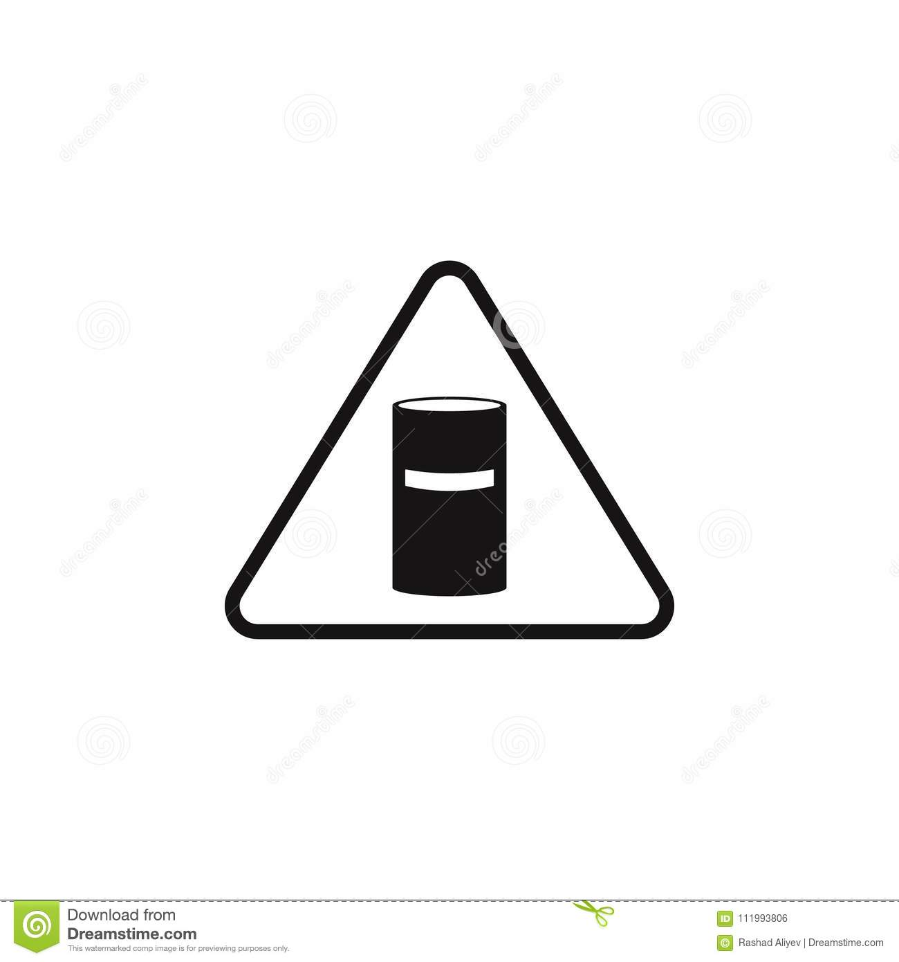 Chemical Waste Sign Icon Element Of Danger Signs Icon Premium