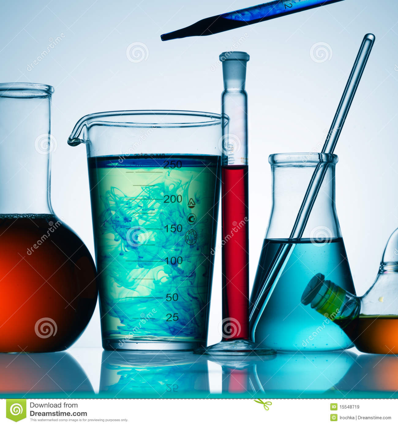 Chemicals in glass
