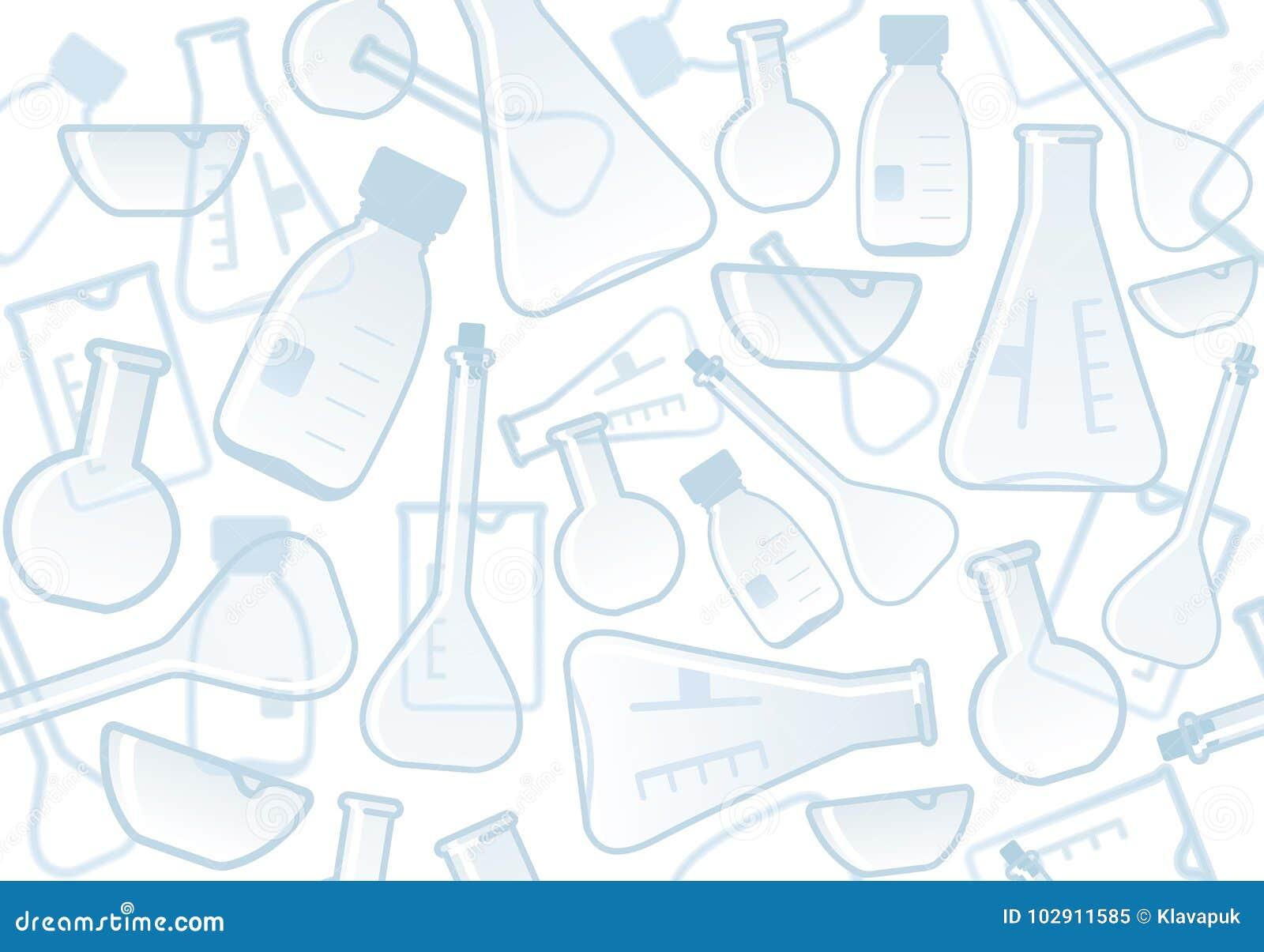 Chemiczny laborancki tło