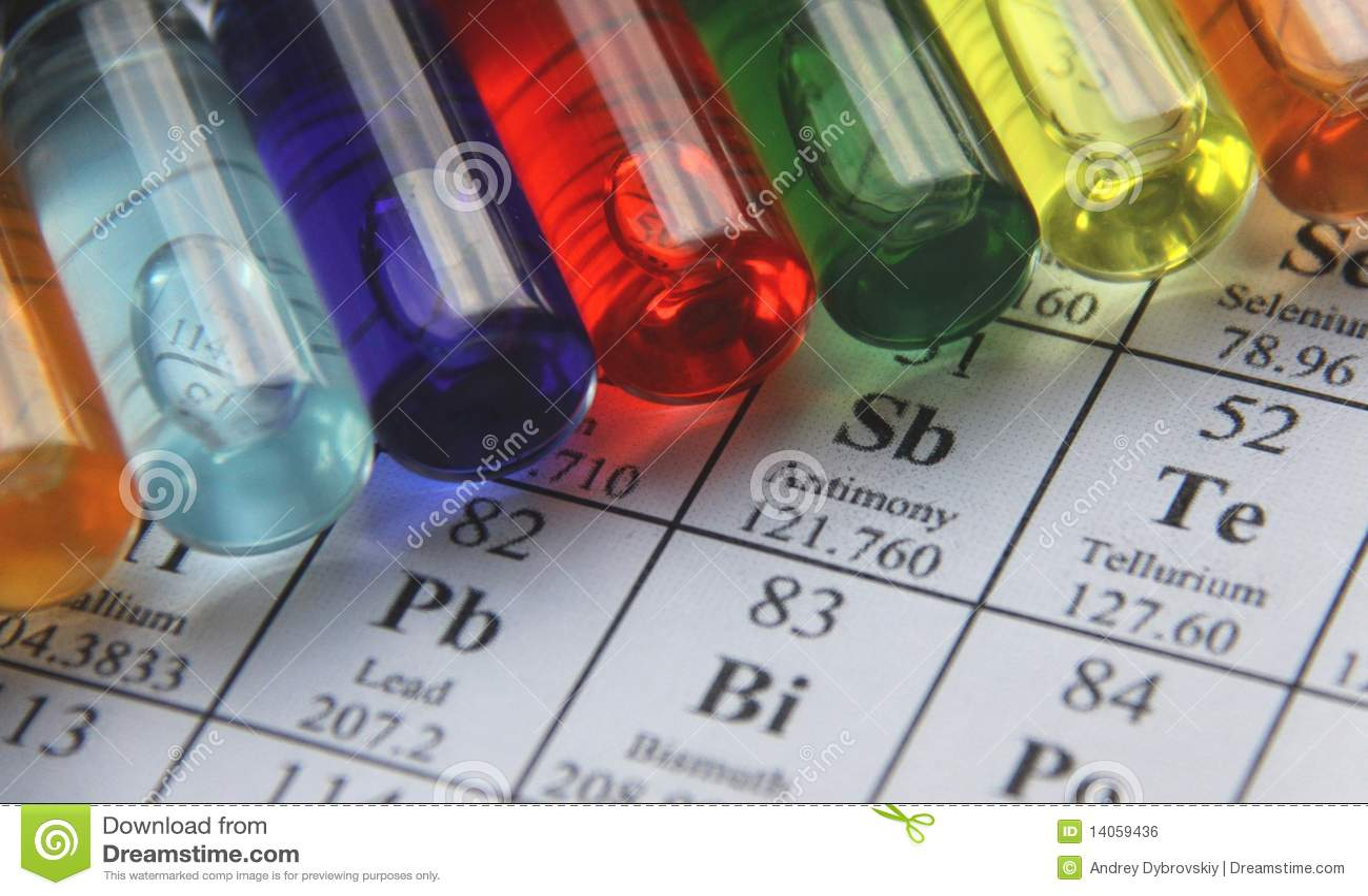 Chemie. Reagenzglasserie