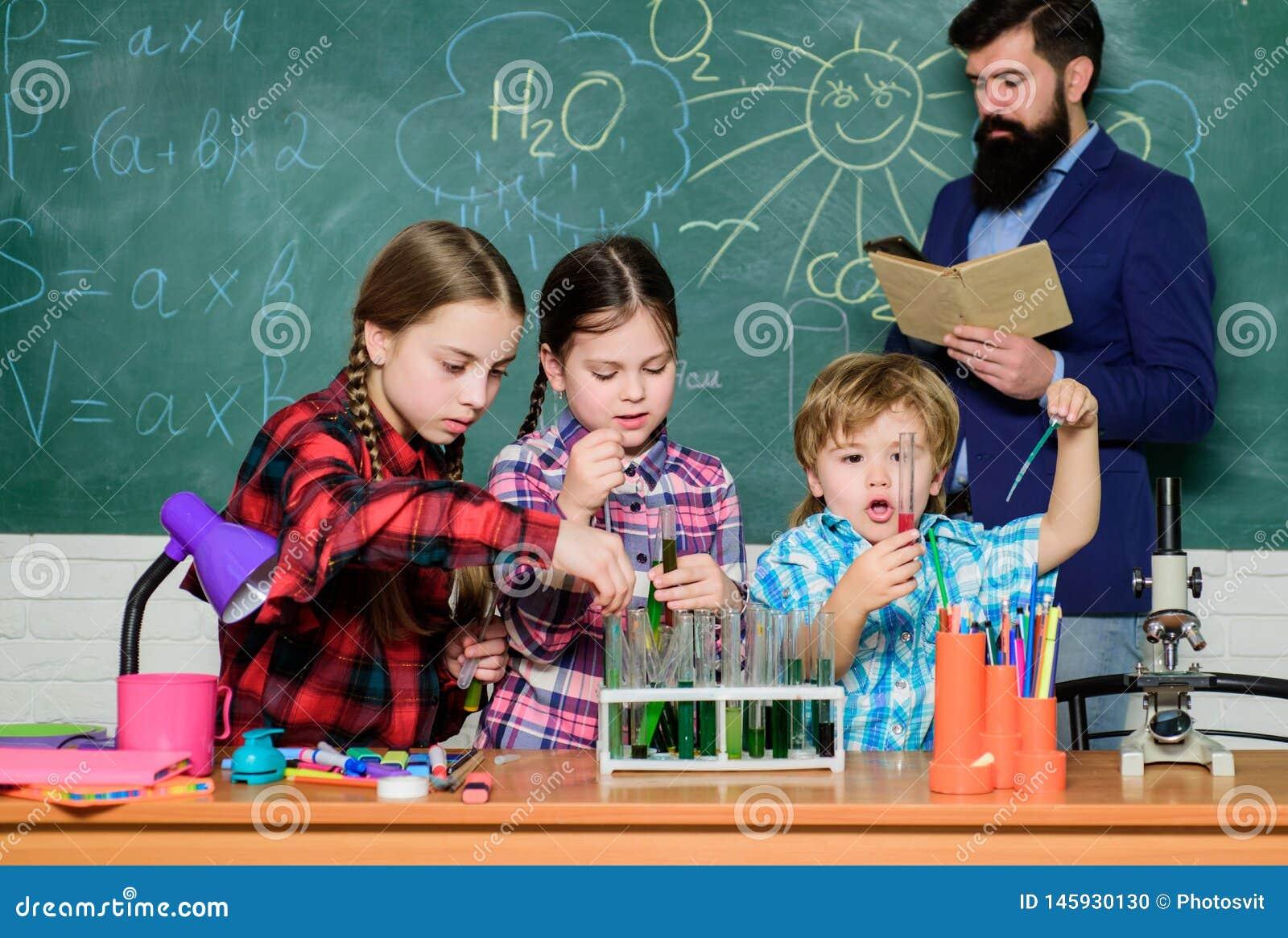 Chemieklassen Groepsinteractie en mededeling Bevorder wetenschappelijke belangen Praktische kennis Het onderwijsjonge geitjes