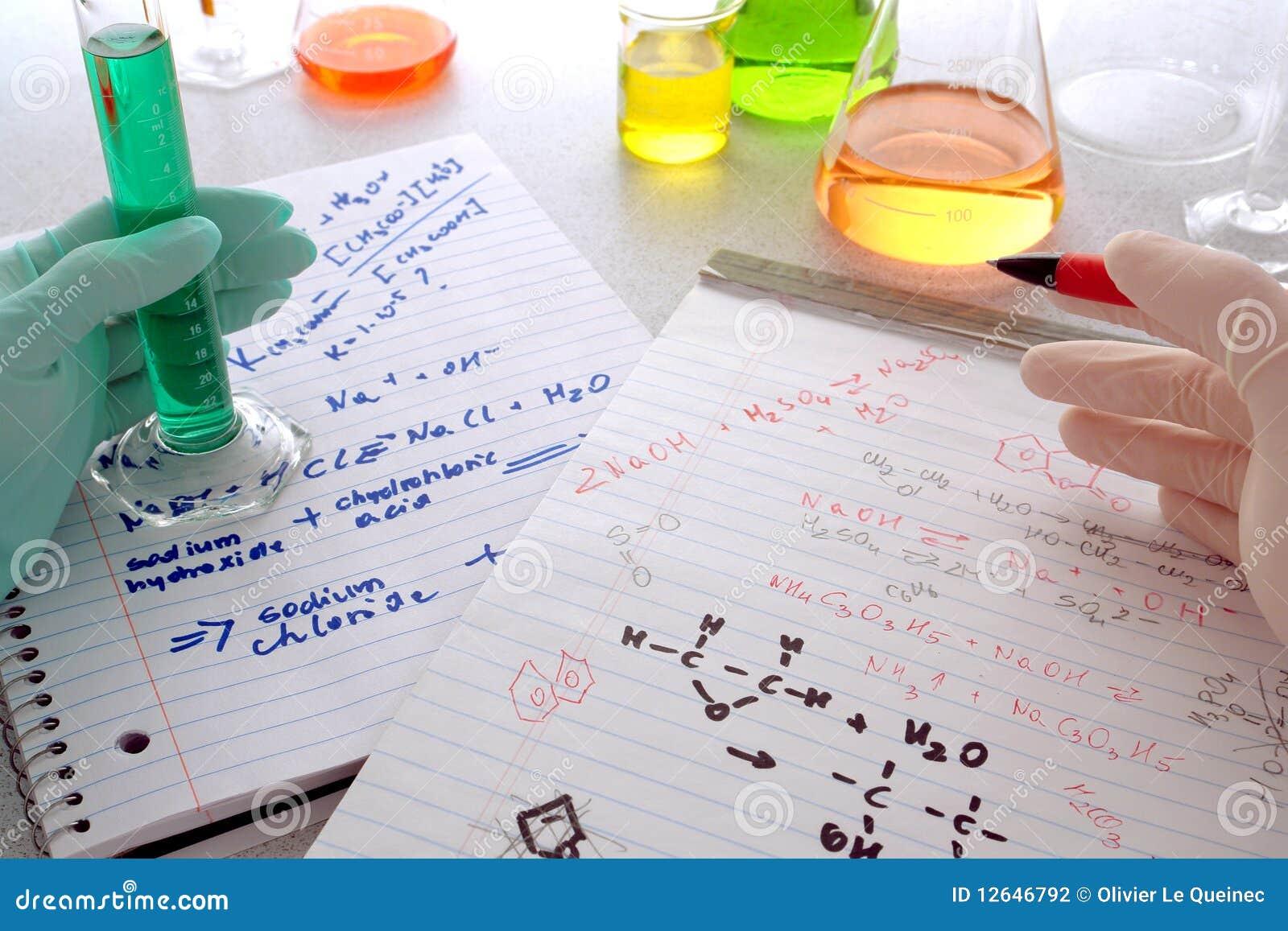 Chemii eksperymentu lab badania nauka
