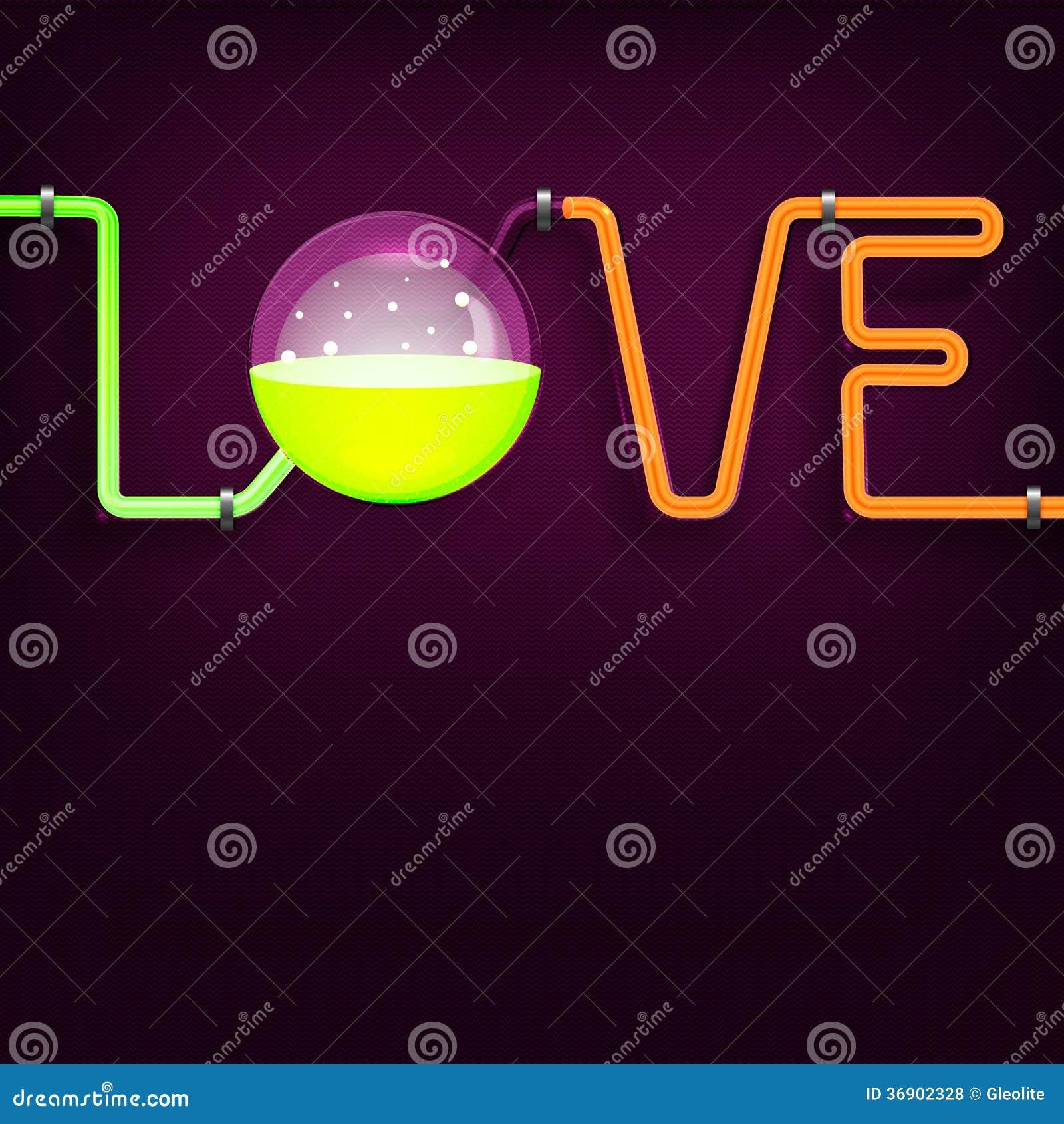Chemii tubk miłości tło
