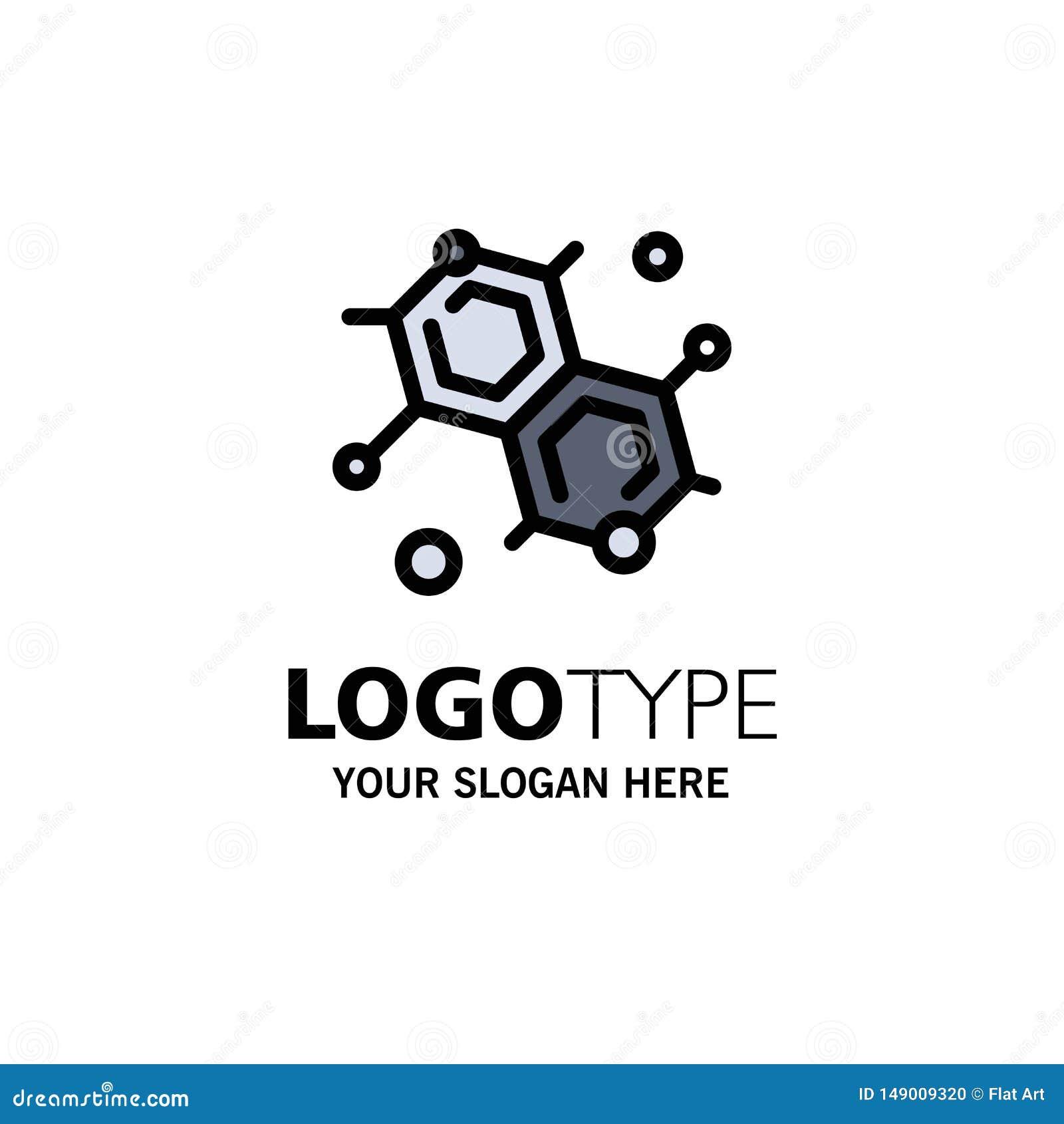 Chemik, Cząsteczkowy, nauka logo Biznesowy szablon p?aski kolor