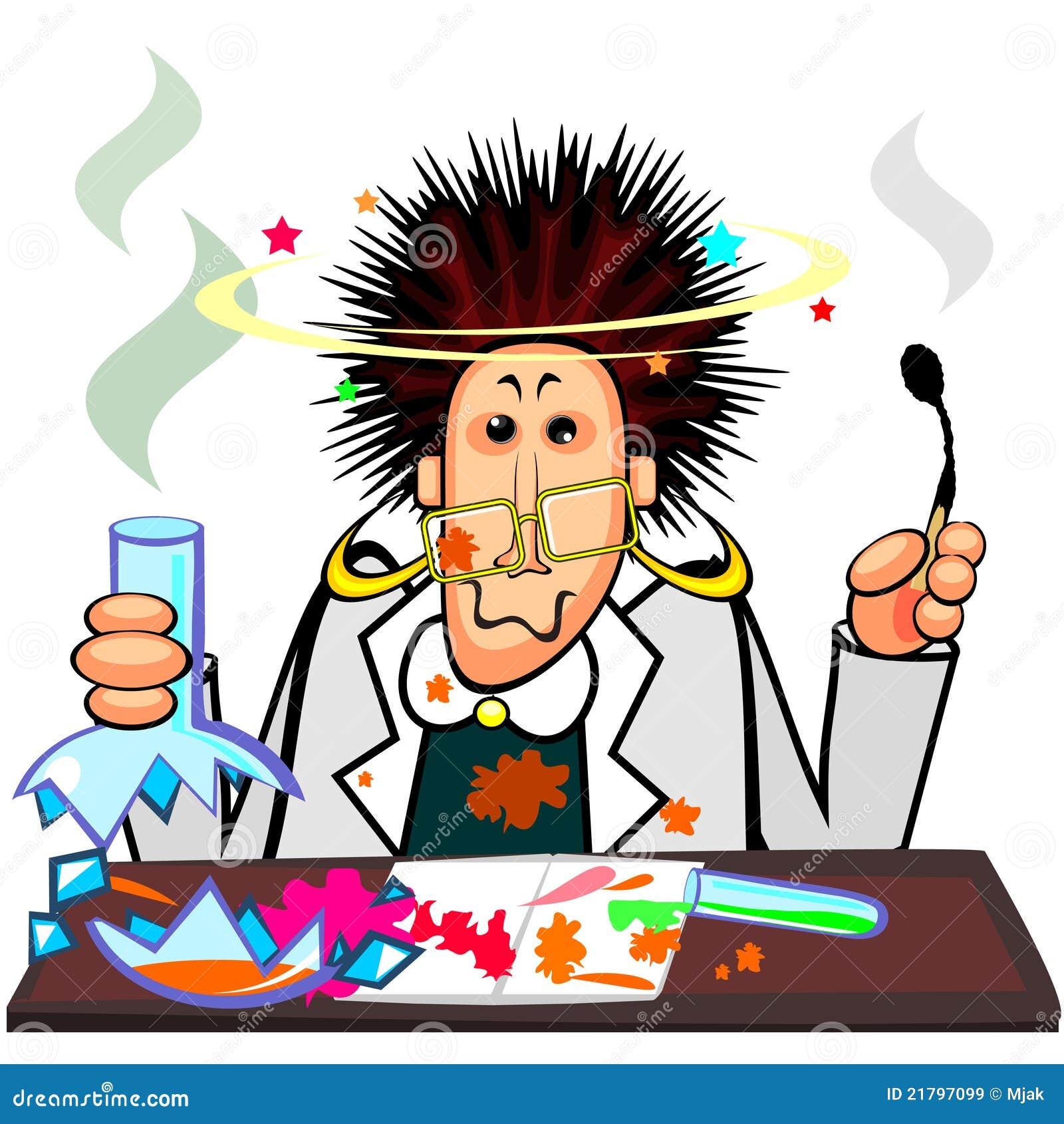 Chemik szalenie obrazy royalty free obraz