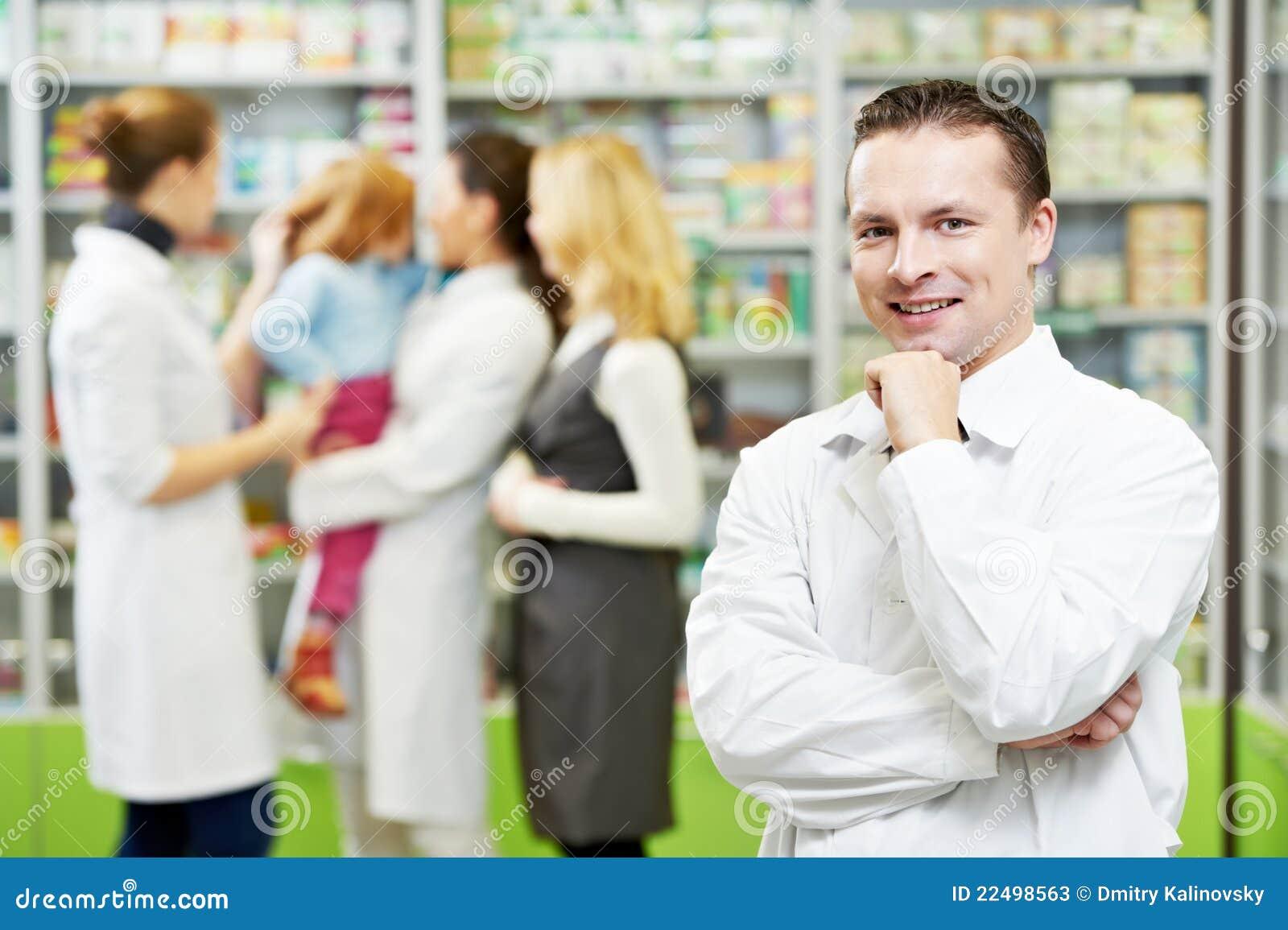 Chemika ufna apteki mężczyzna apteka