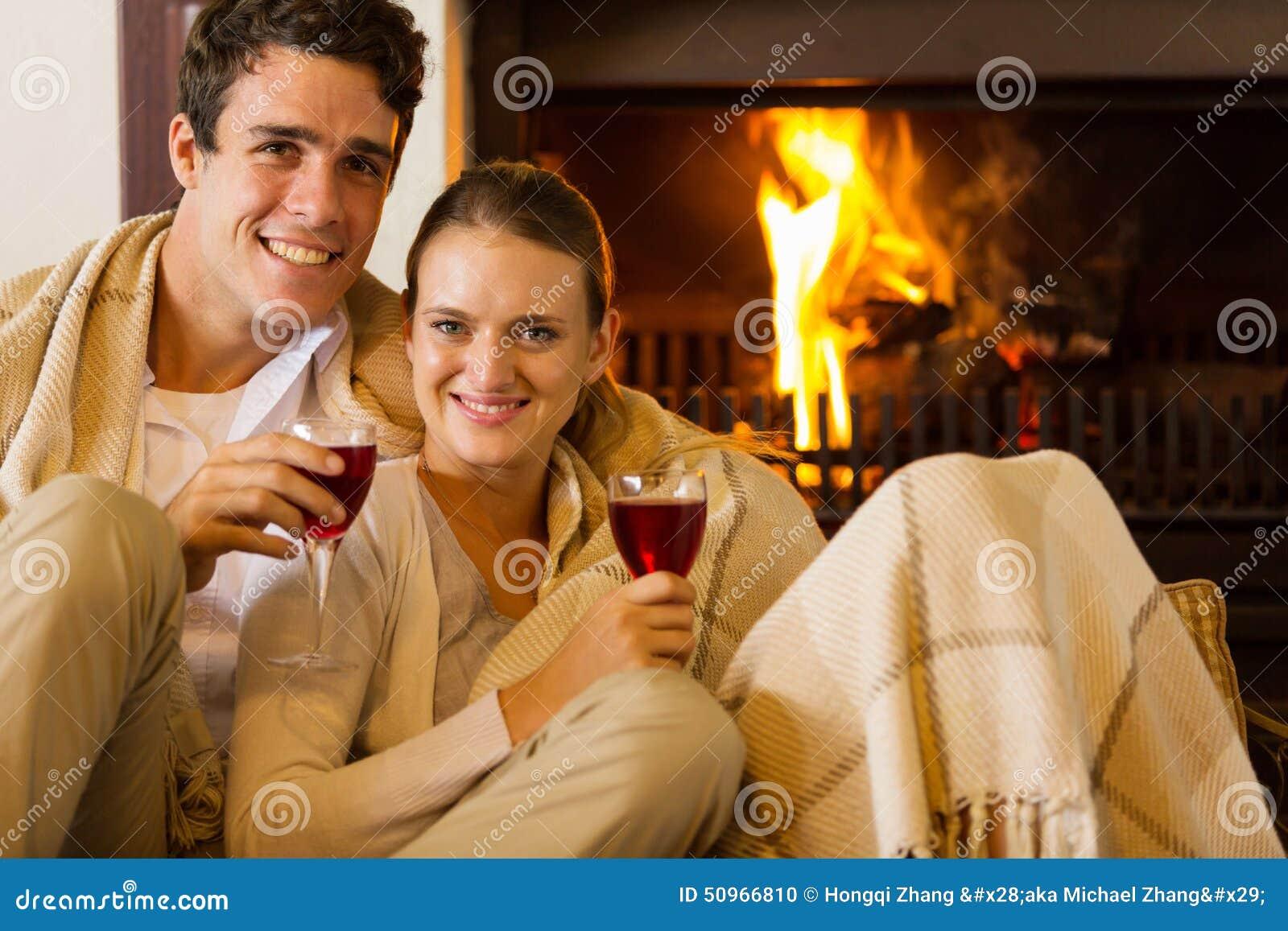 Cheminée de vin de couples