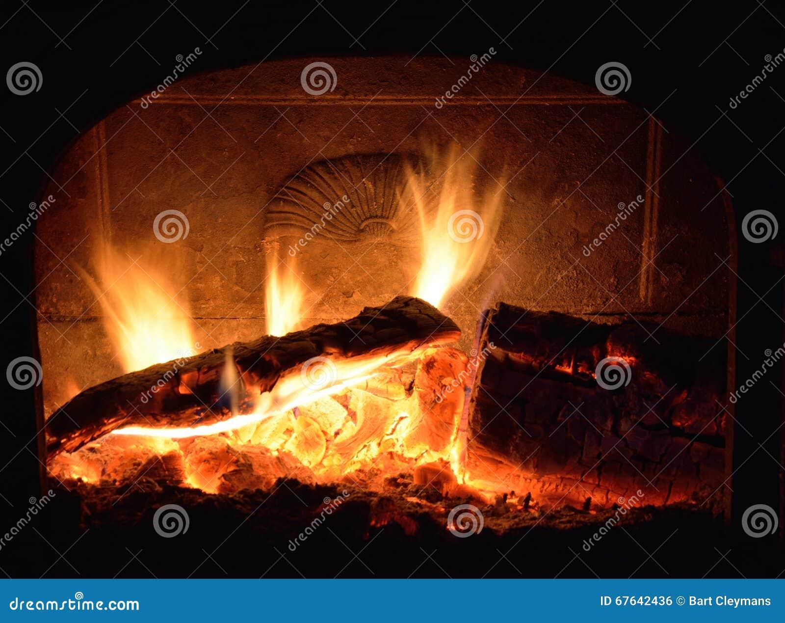 Cheminée, le feu de flambage