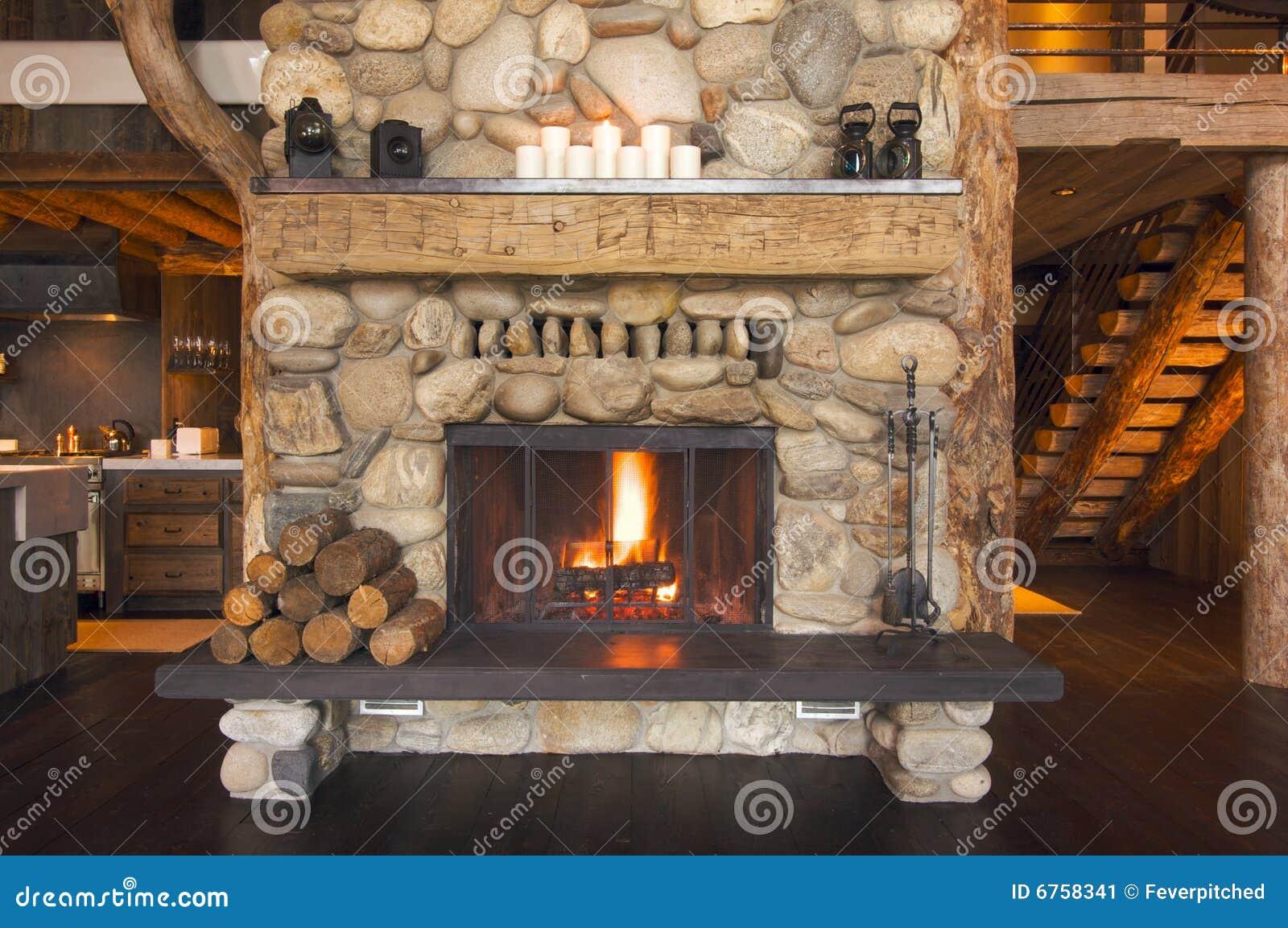 chemin e rustique image stock image 6758341. Black Bedroom Furniture Sets. Home Design Ideas