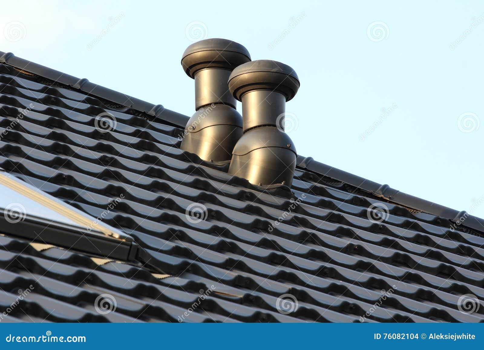 Cheminée sur le toit