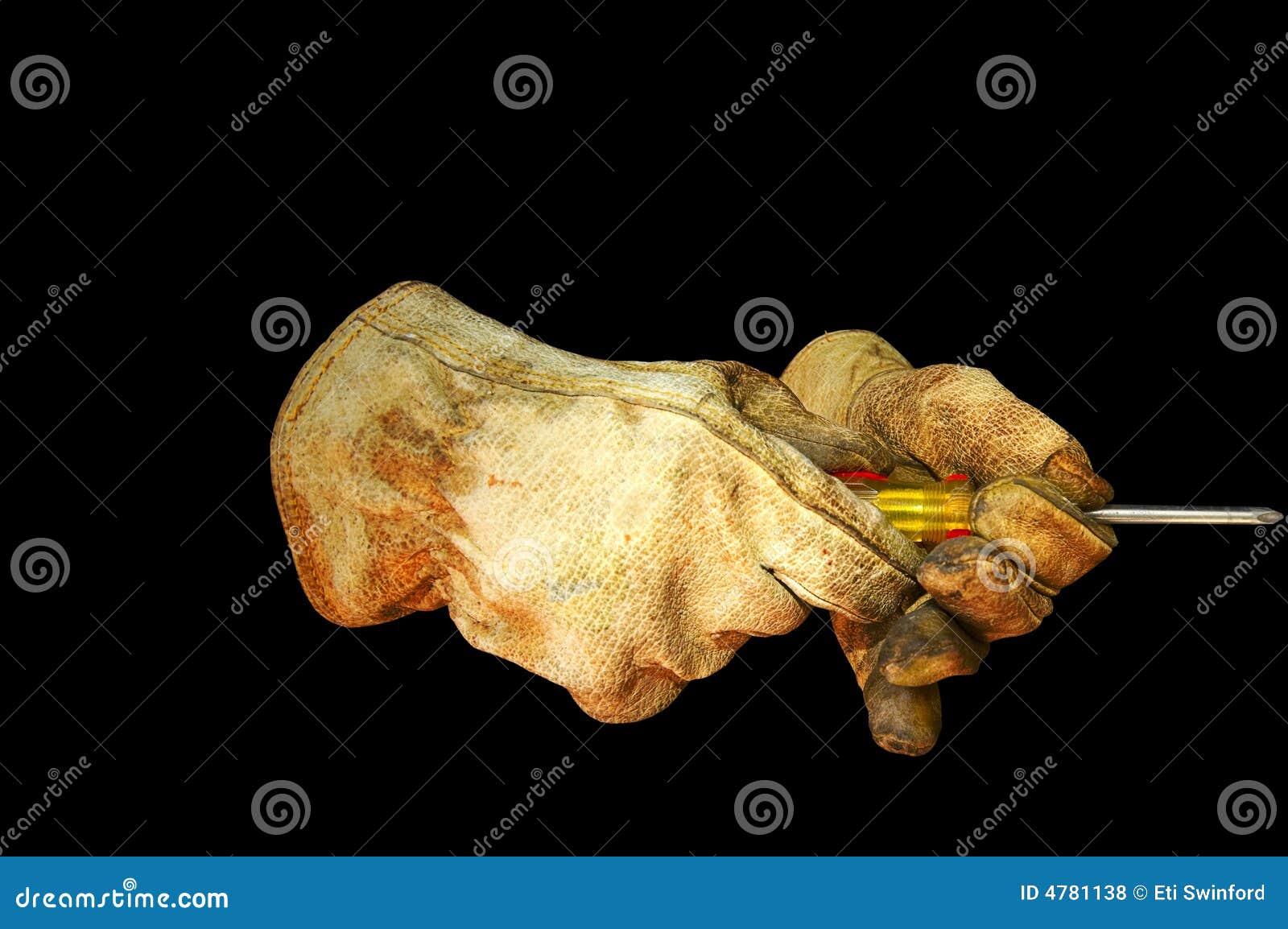 Chemin de clip de tournevis de gants de travail