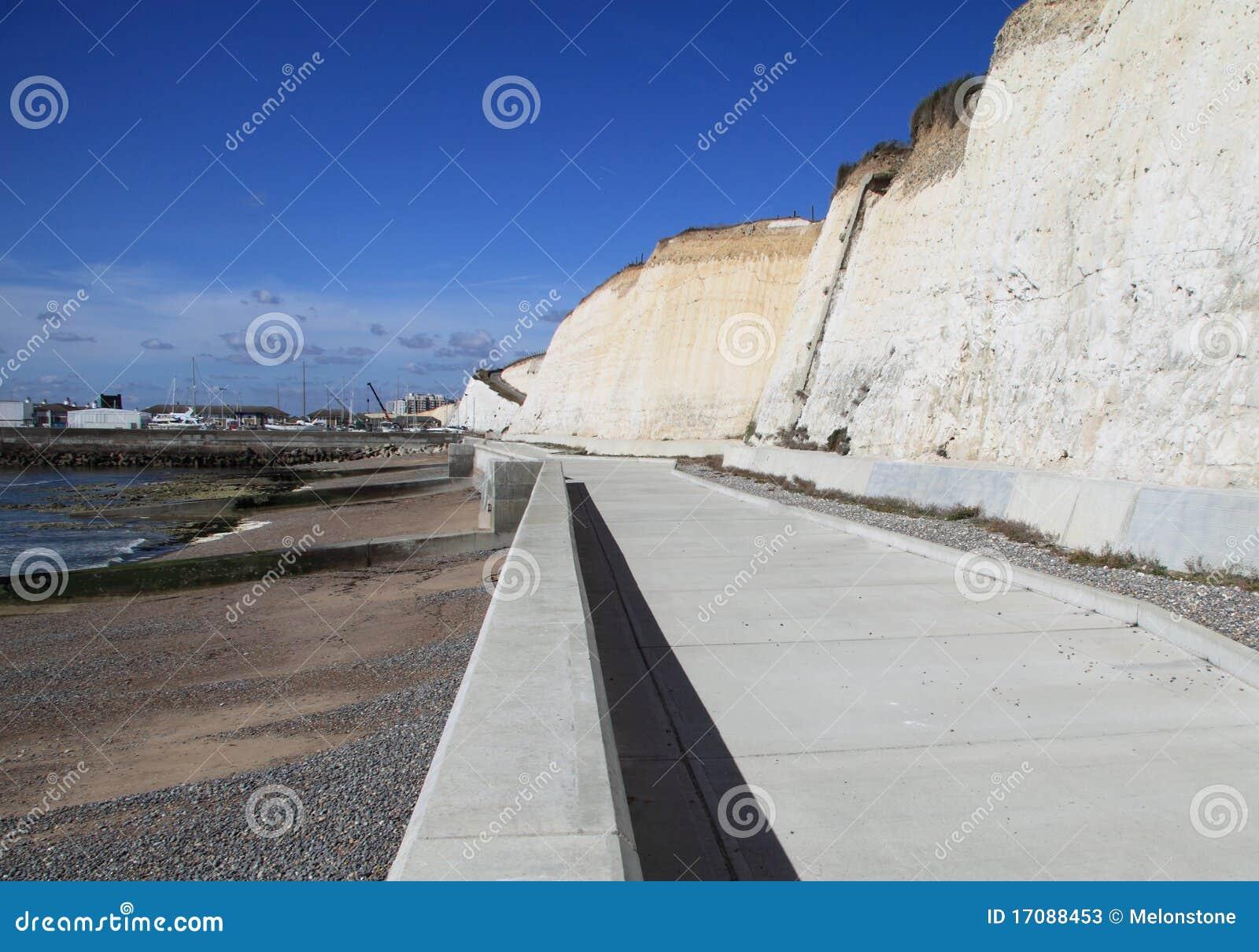 Chemin de cycle par la plage
