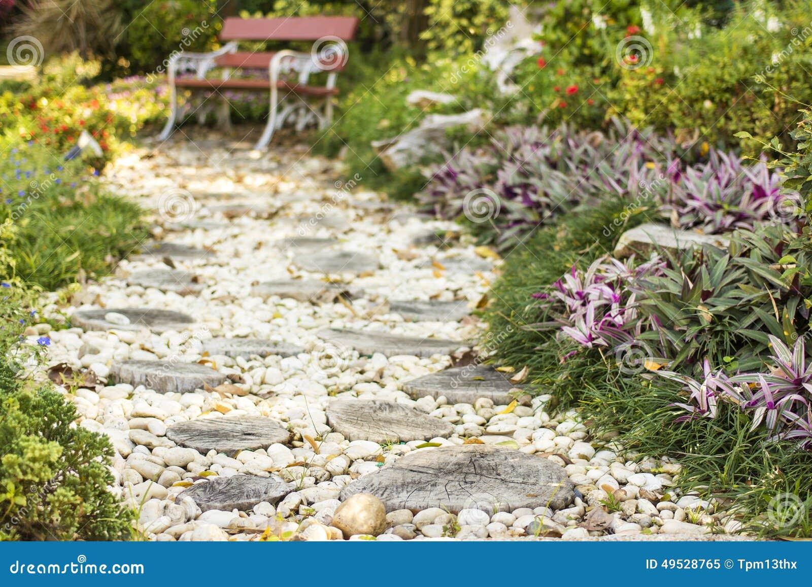 Chemin de promenade dans le jardin d cor des tron ons et - Giardini decorati ...