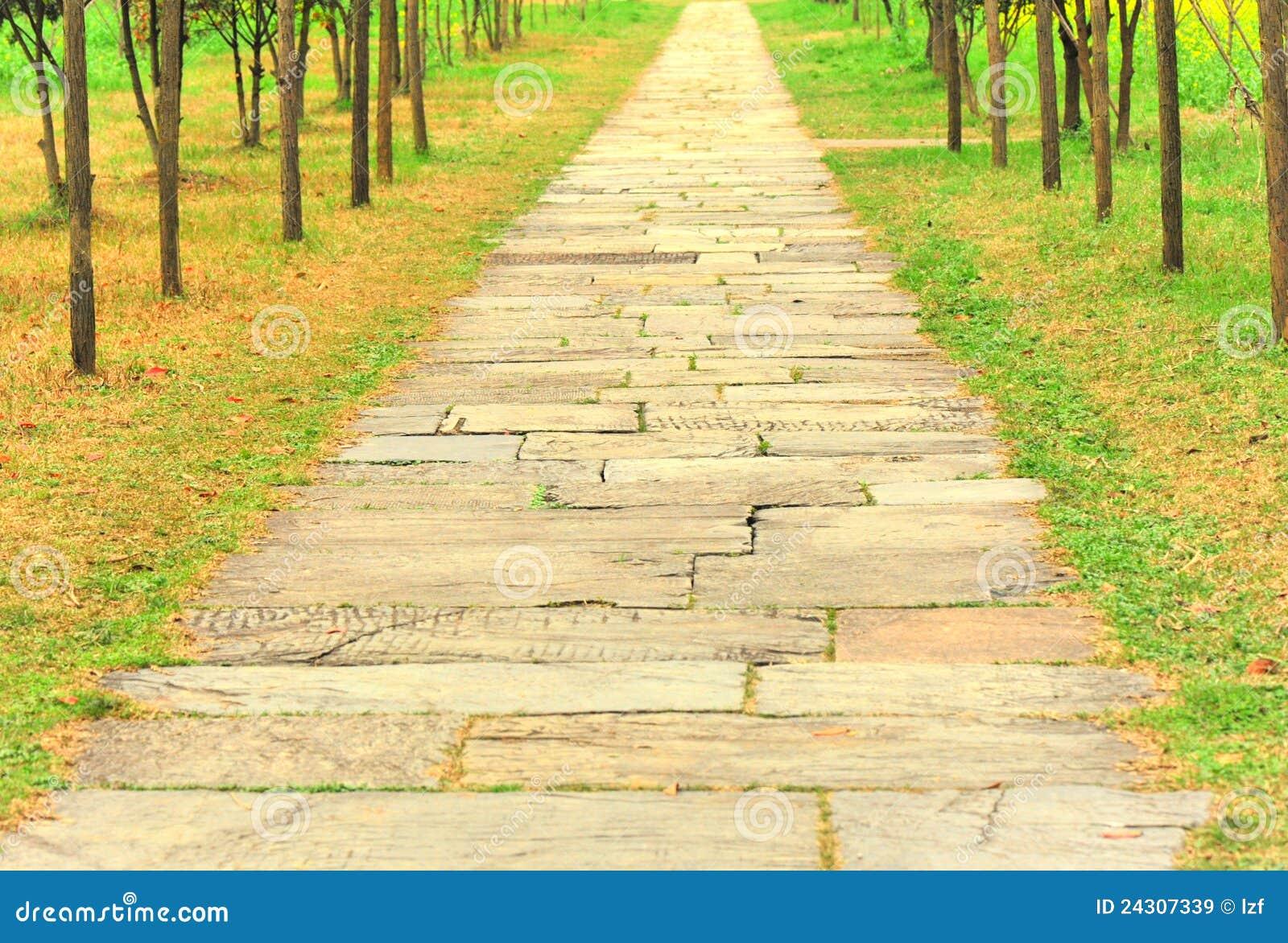 Chemin en pierre antique dans le jardin images libres de droits image 2430 - Chemin de jardin en pierre ...