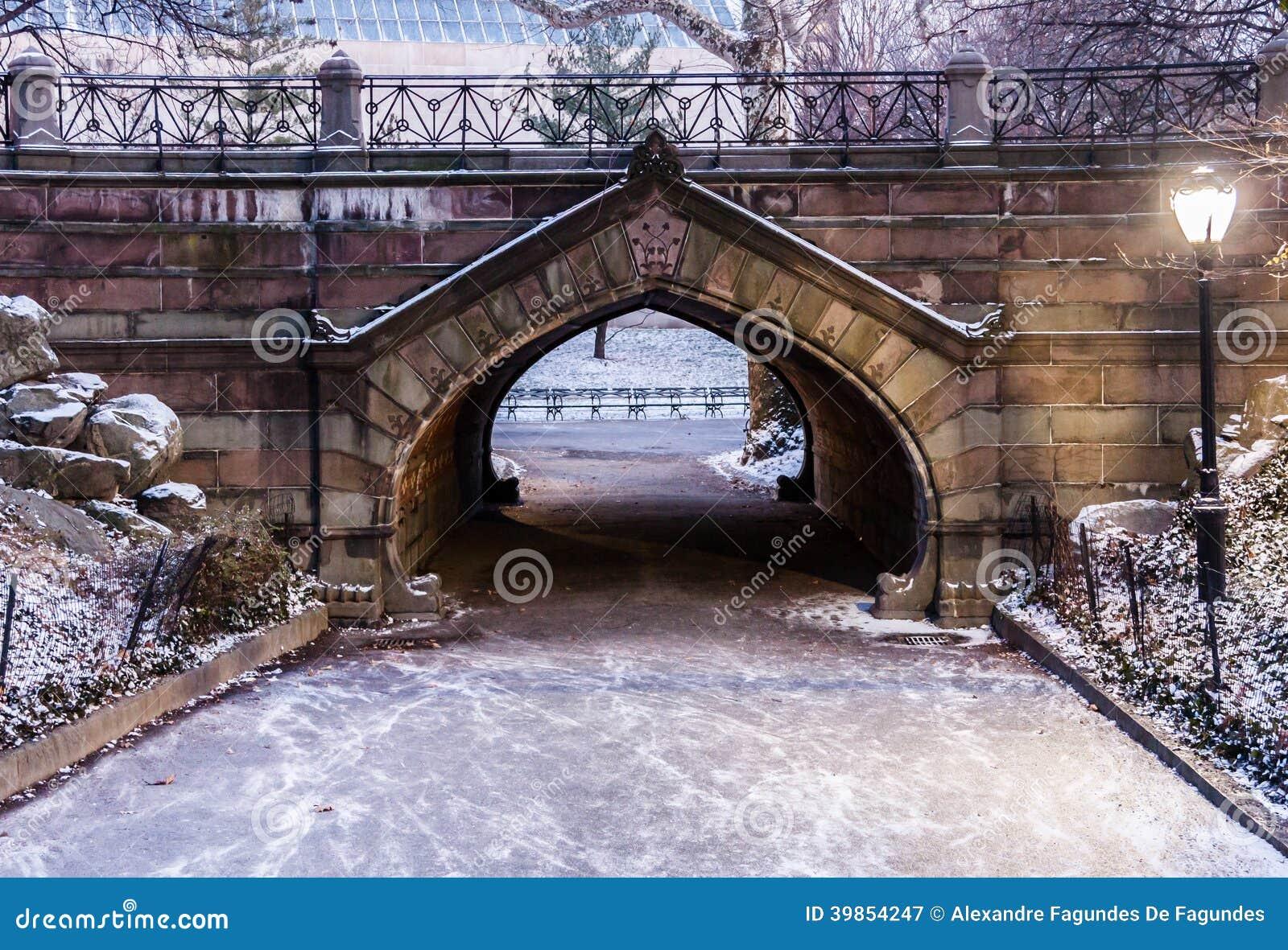 Chemin New York City de Central Park
