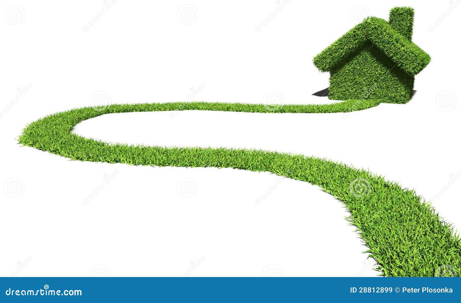 Chambre Verte Et Rouge : Chemin Vers La Maison Verte Images libres de droits – Image: 28812899