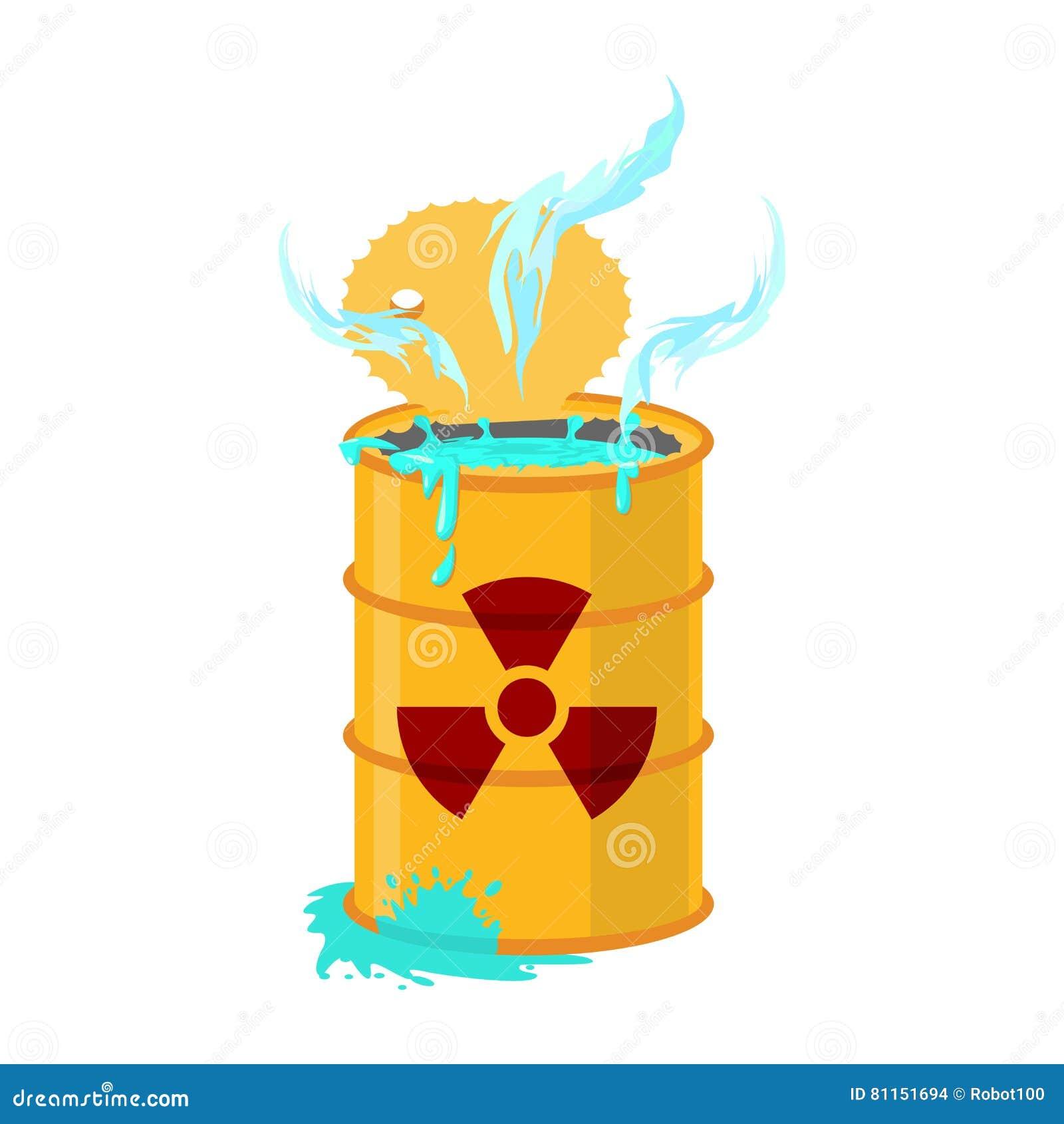 Chemisch afval geel vat Giftig afvalvaatje Giftige vloeistof