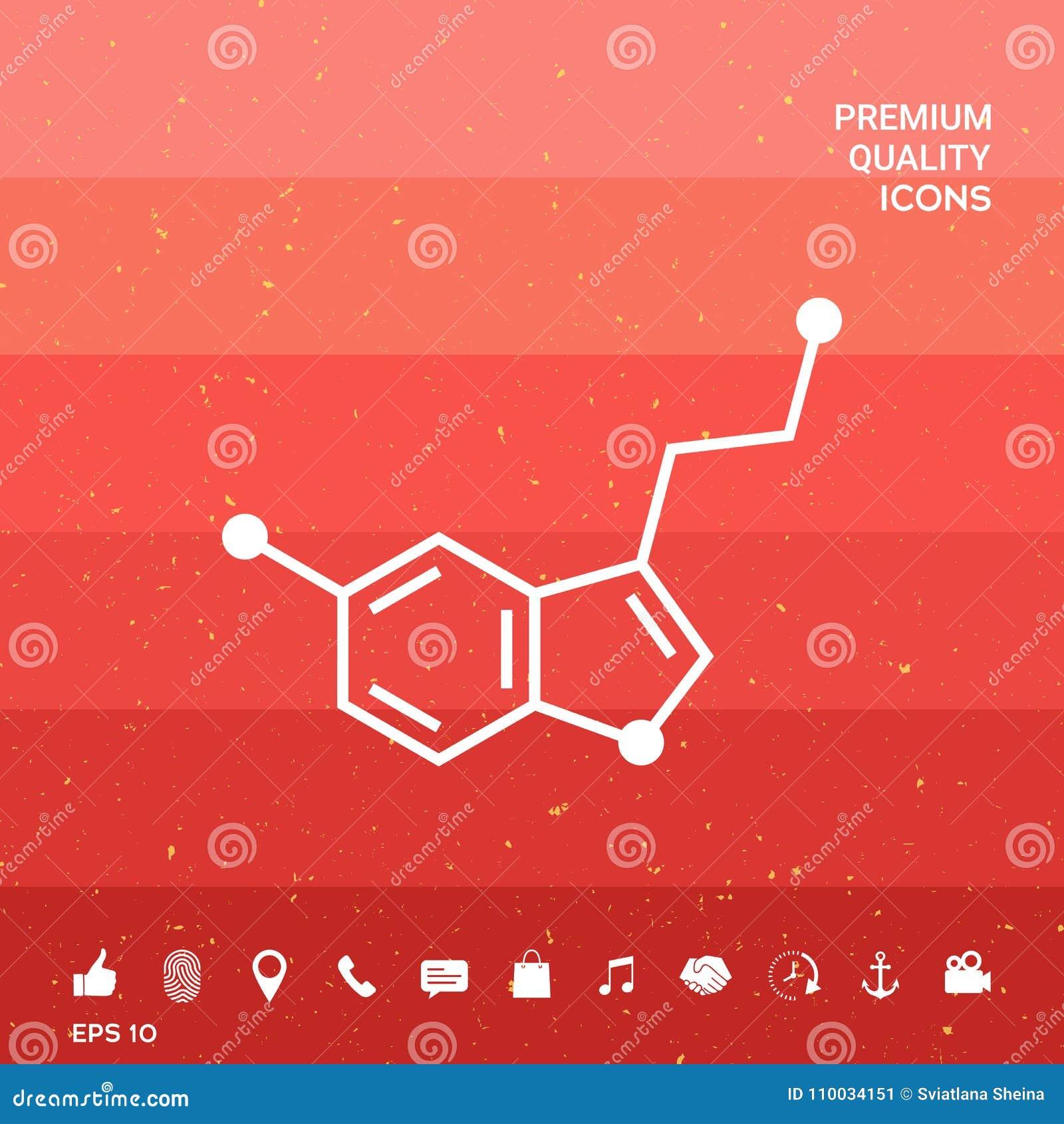 Chemisch formulepictogram serotonine