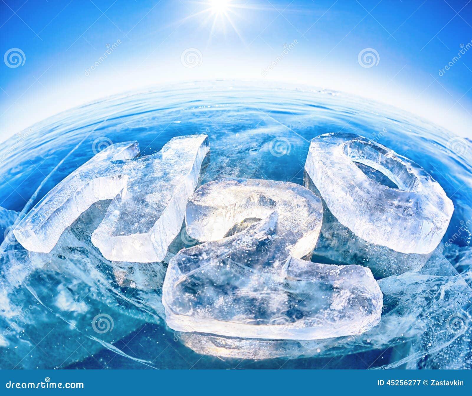 chemische formel des wassers h2o stockbild bild von arktisch frisch 45256277. Black Bedroom Furniture Sets. Home Design Ideas