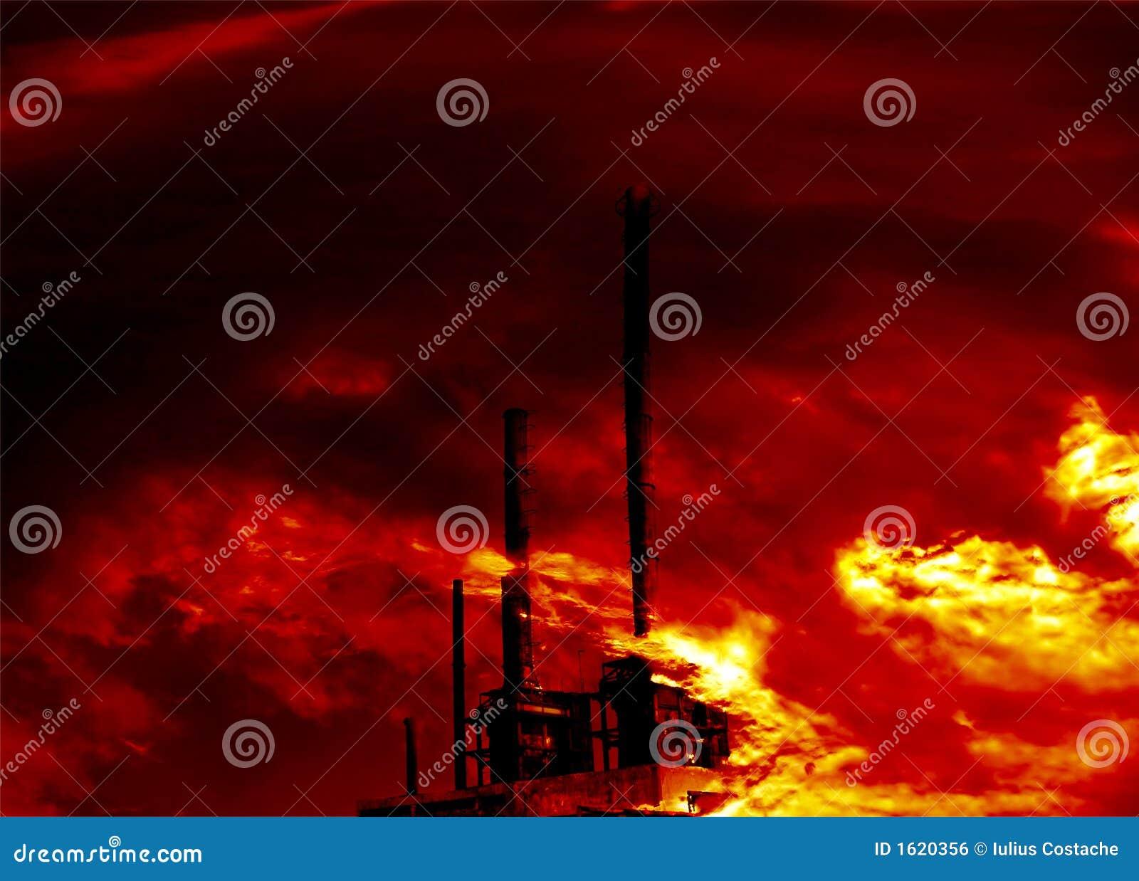 Chemische installatie op brand