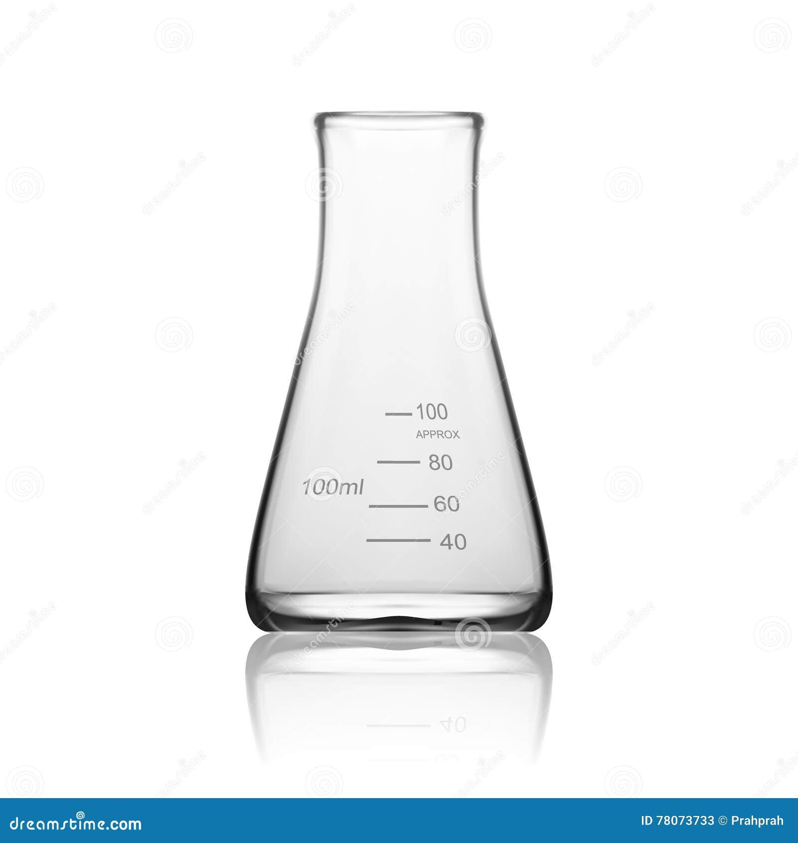 Chemische Laborglaswaren oder Becher Glasausrüstungs-leeres klares Reagenzglas