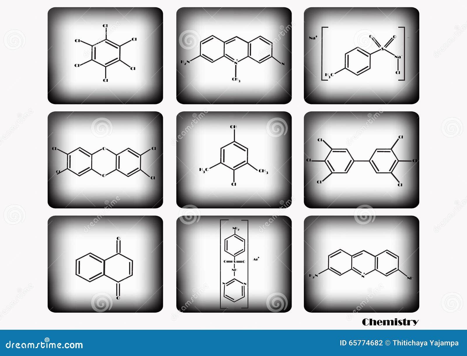 Chemische pictogramreeks, vectorillustratie, chemisch die pictogram op witte en zwarte achtergrond wordt geplaatst