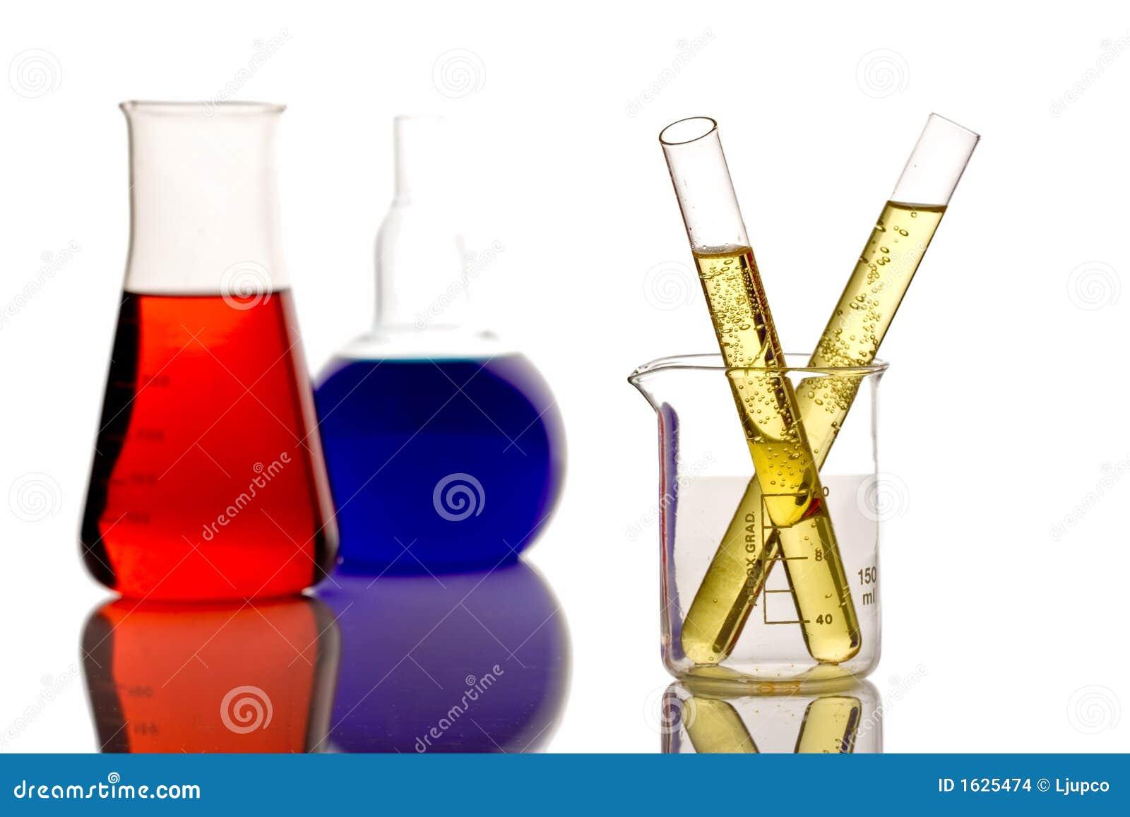 Chemische producten in een onderzoeklaboratorium