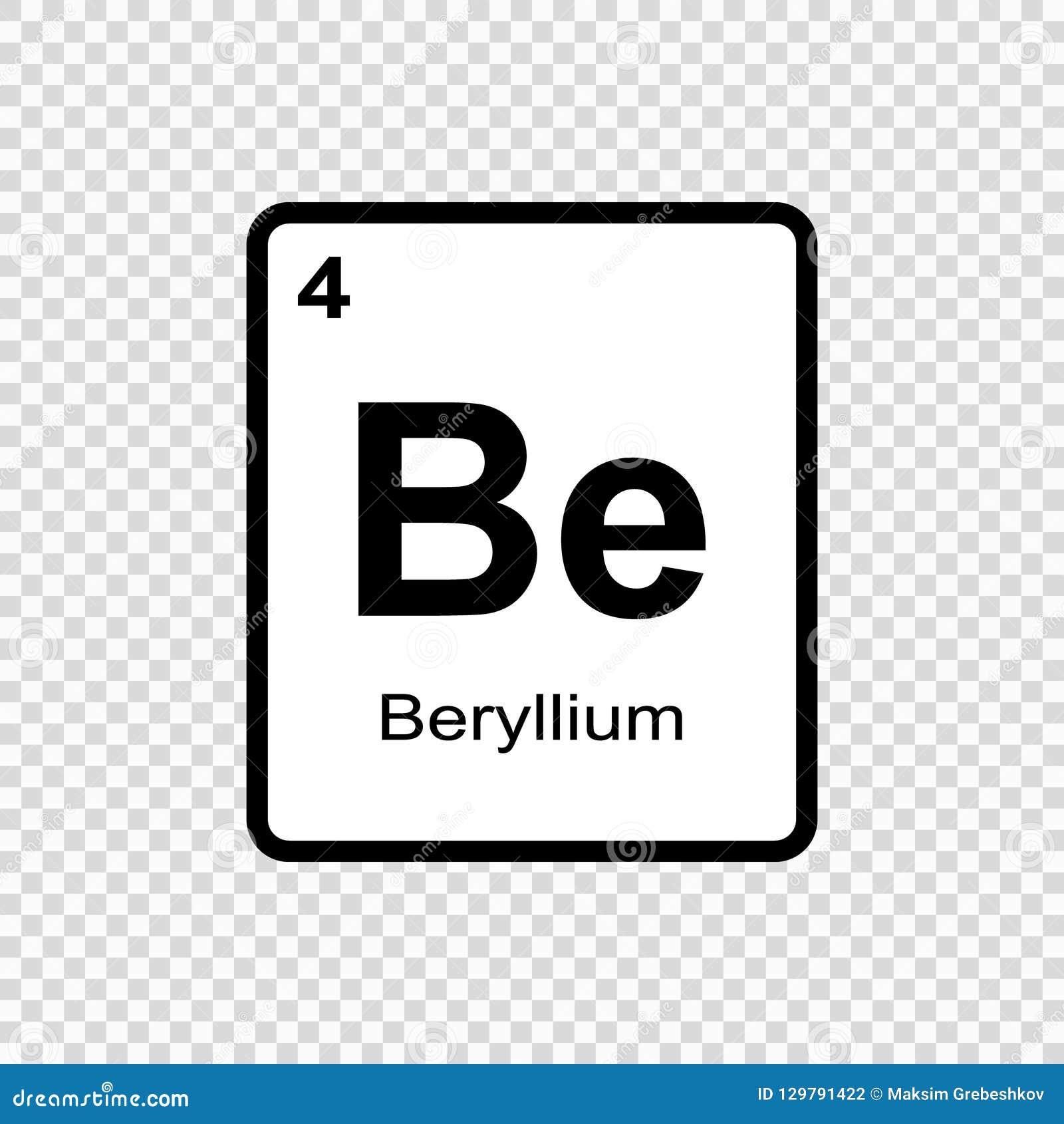 Chemisches Element Beryllium Stock Abbildung Illustration Von