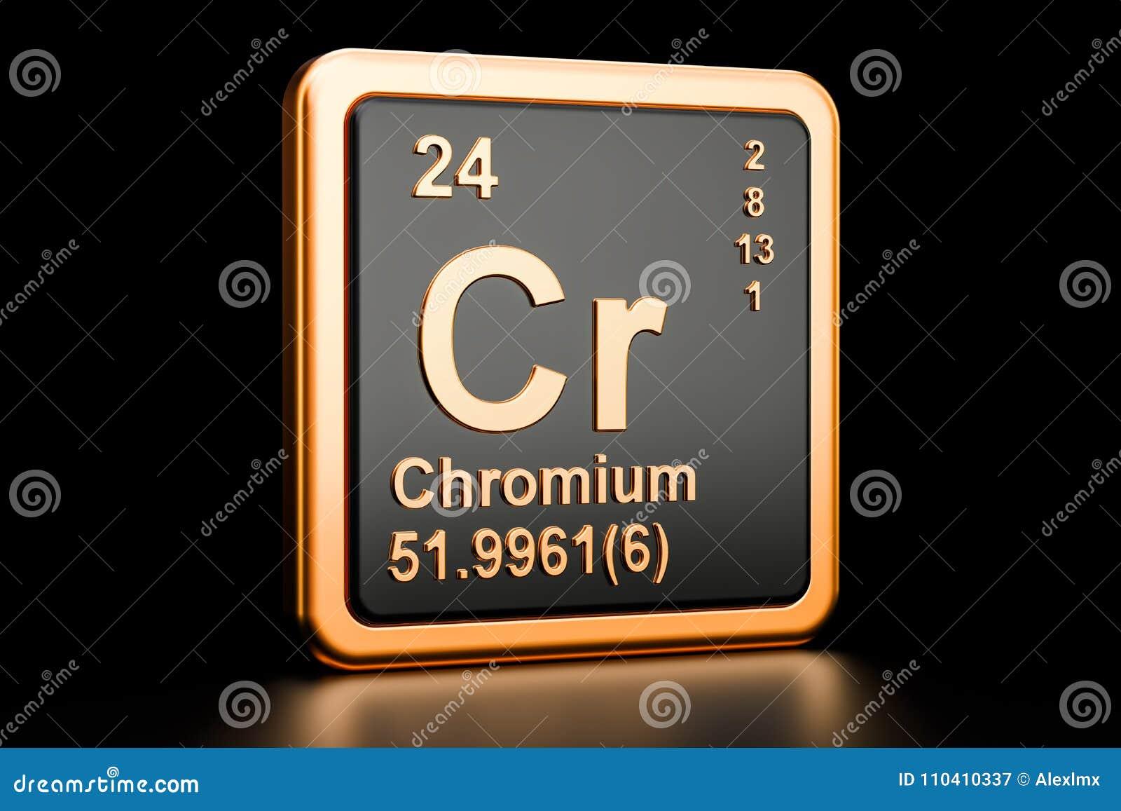 Chemisches Element des Chrom-Cr Wiedergabe 3d