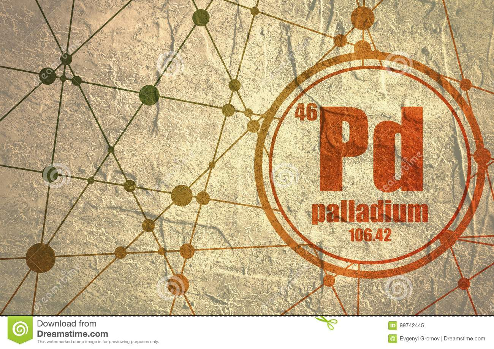 Chemisches Element des Palladiums