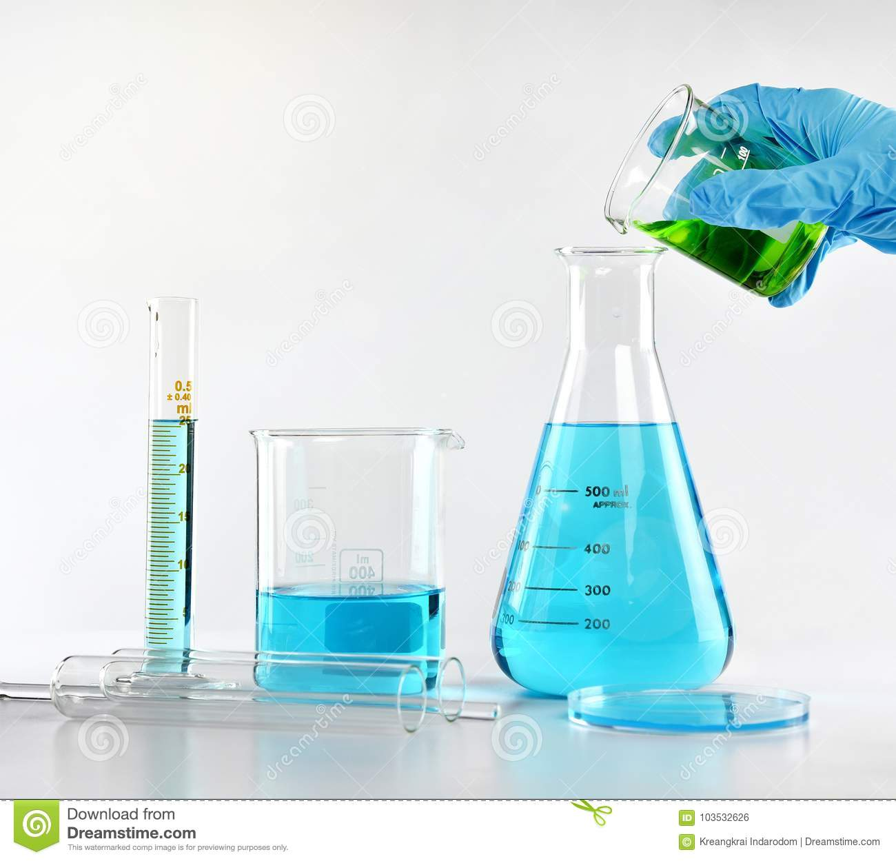 Scientist With Equipment And Science Experiments, Laboratory