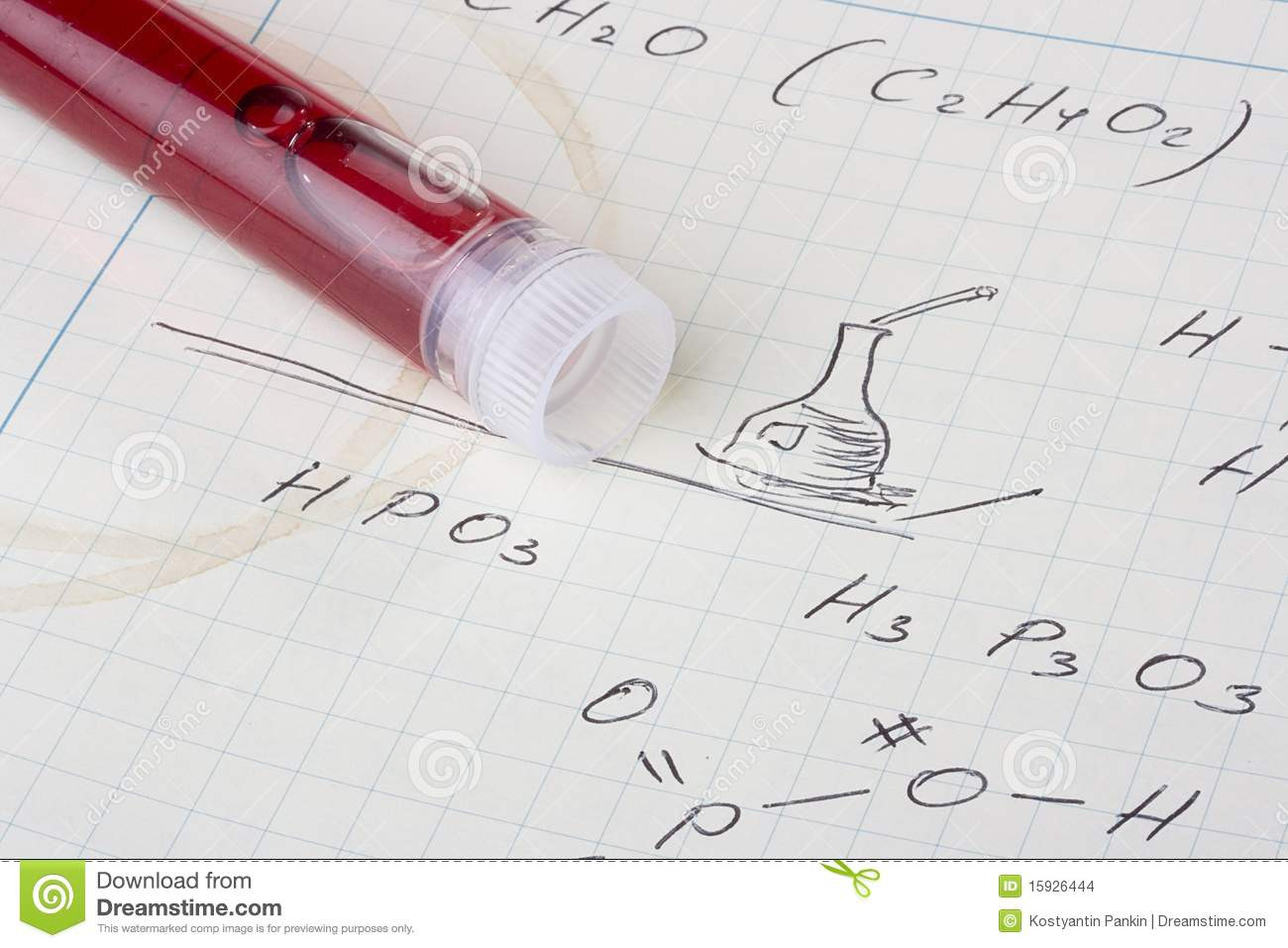 chemistry assignment stock images image  chemistry assignment