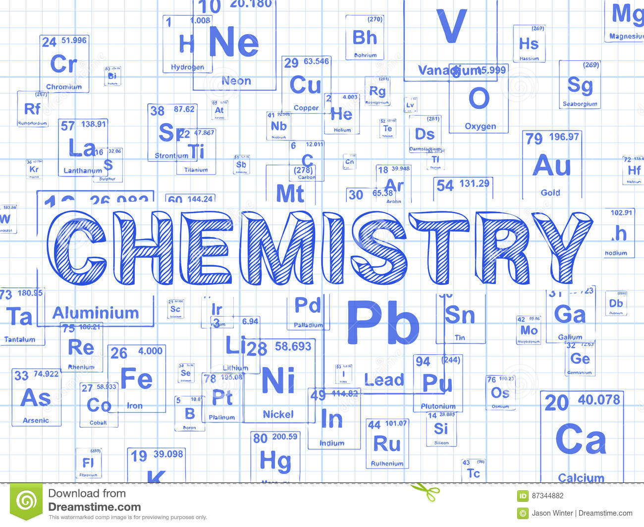Chemistry Background Graph Paper Vector Image 87344882 – Download Graph Paper for Word