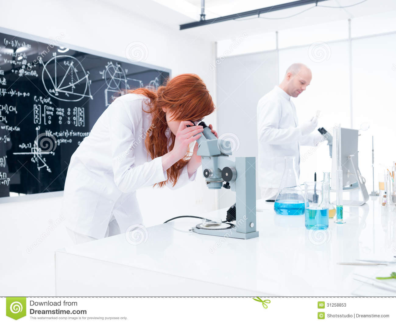 Chemistry lab experiment stock image  Image of costumel